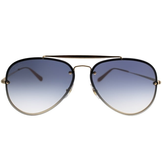 Shop Ray-Ban Aviator RB 3584N Blaze Aviator 001 19 Unisex Gold Frame Light  Blue Gradient Lens Sunglasses - Free Shipping Today - Overstock.com -  21466069 80b1b97735