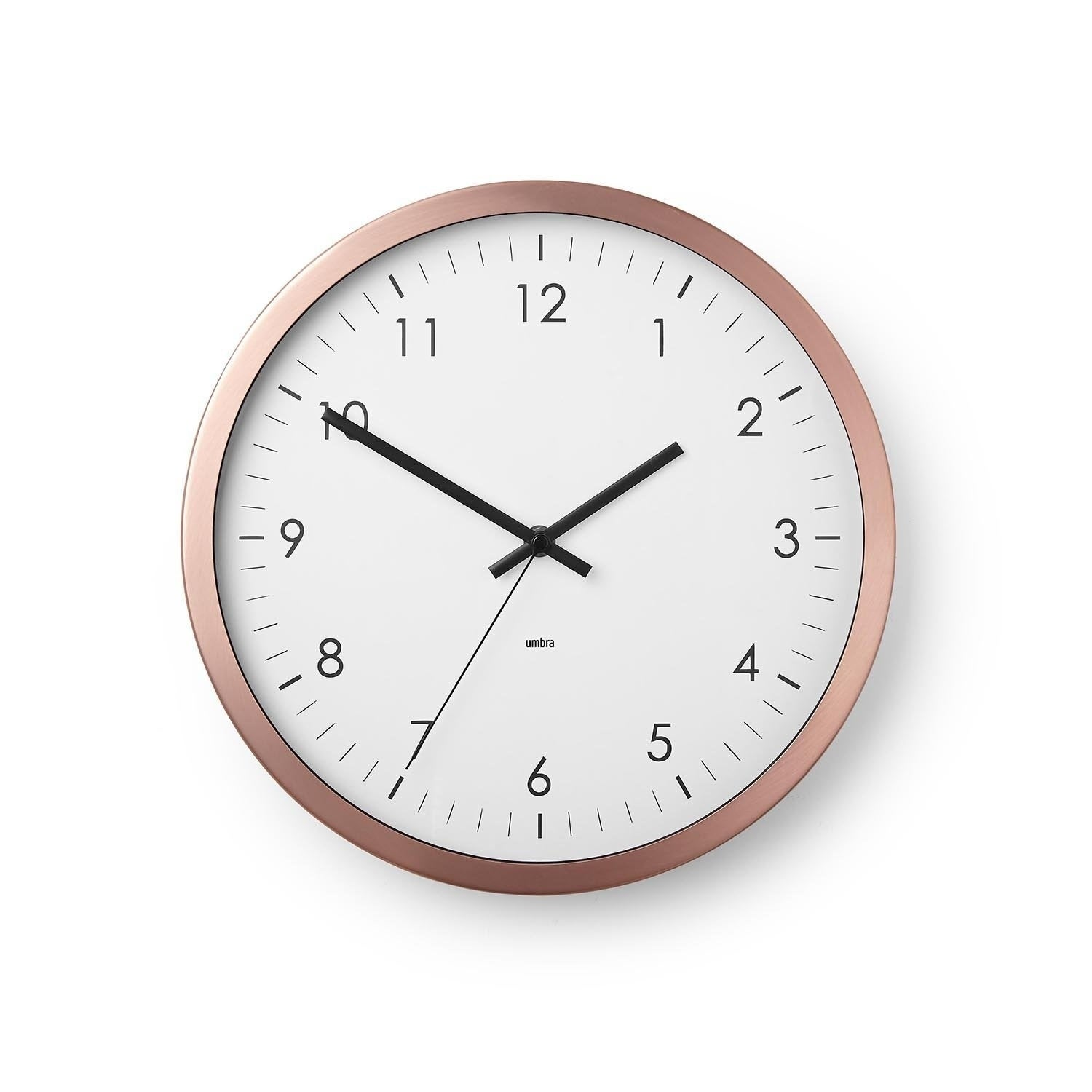 Shop Wall Clock 12 Metal Frame Battery Operated Clock For