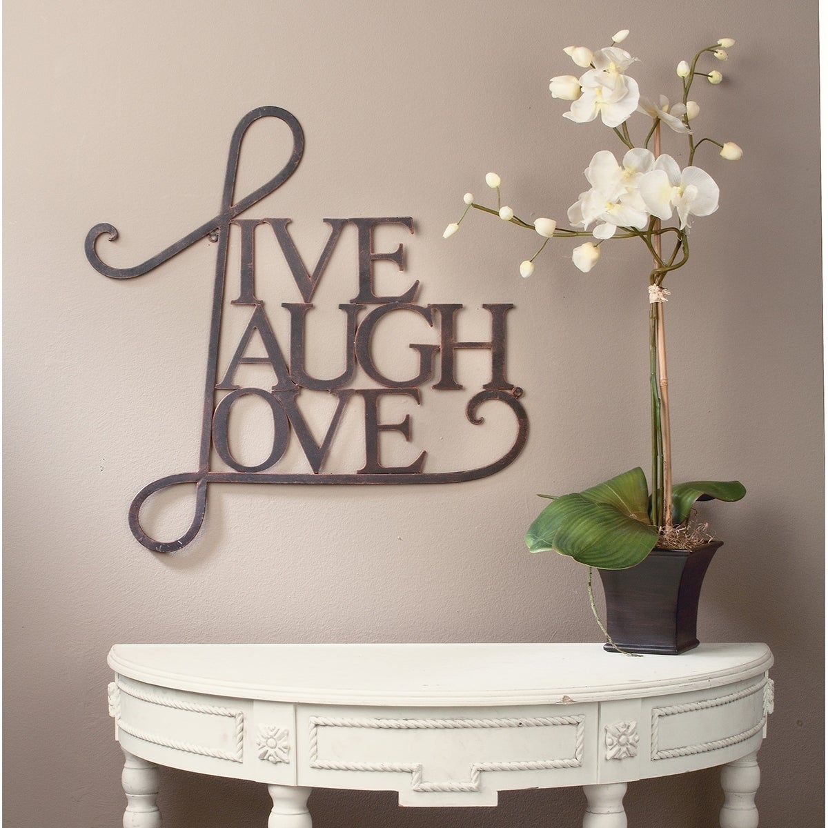 Live Laugh Love Wall Decor Antique Copper White Finish Free Shipping On Orders Over 45 21469500