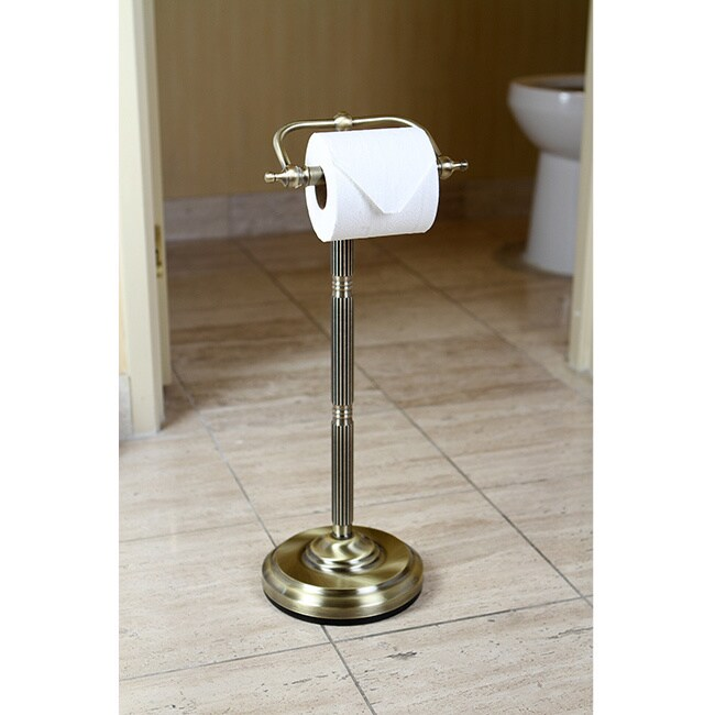 Shop Antique Brass Free Standing Paper Holder Free Shipping Today