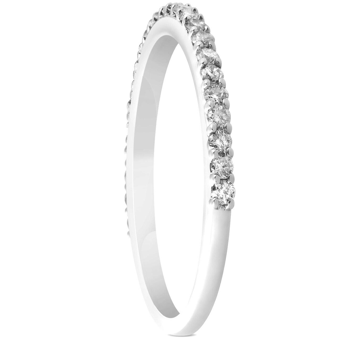 fc3350a94 Shop Bliss 14k White Gold 1 4 Ct Tdw Diamond Wedding Ring Womens
