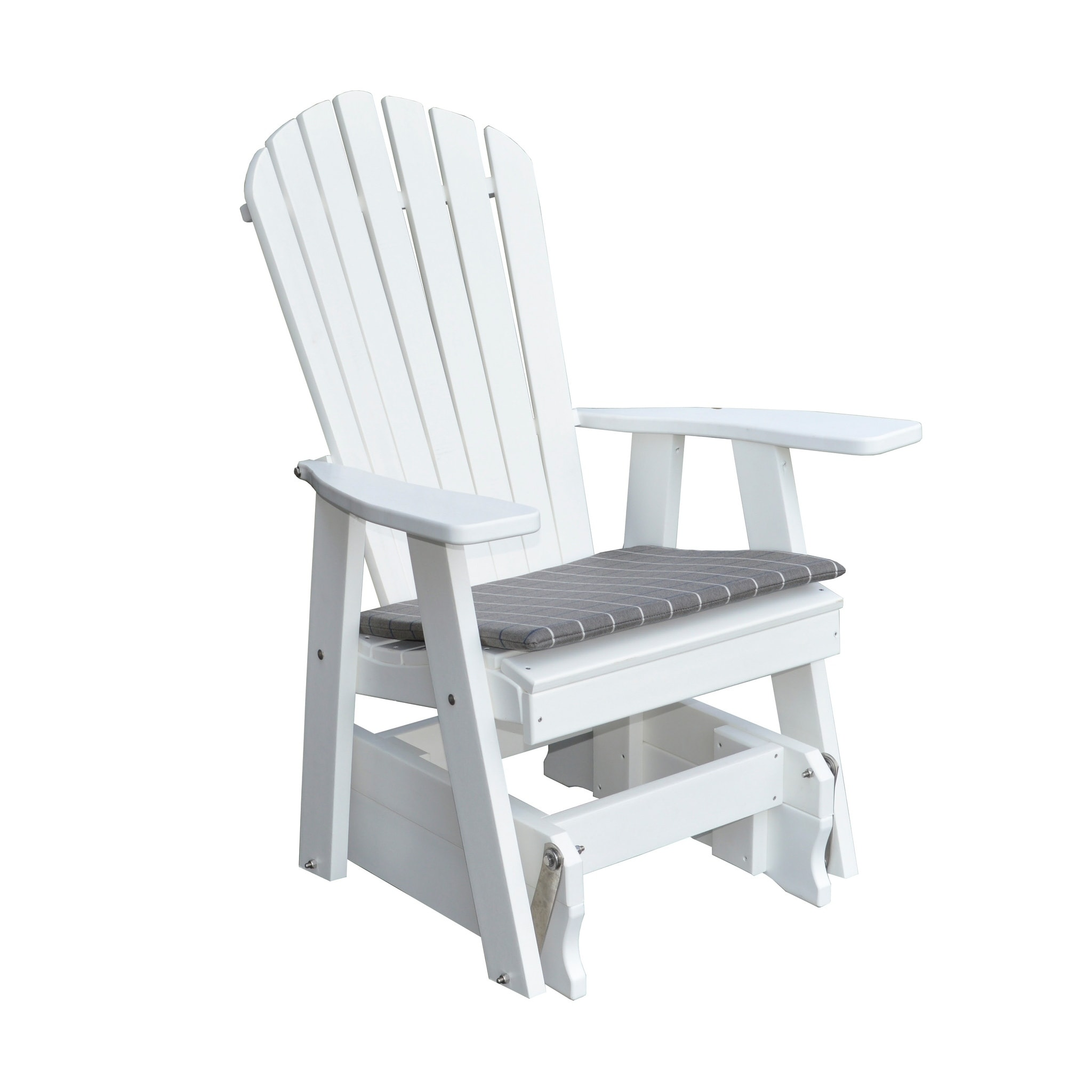 Outdoor Adirondack Style Gliding Chair Recycled Plastic