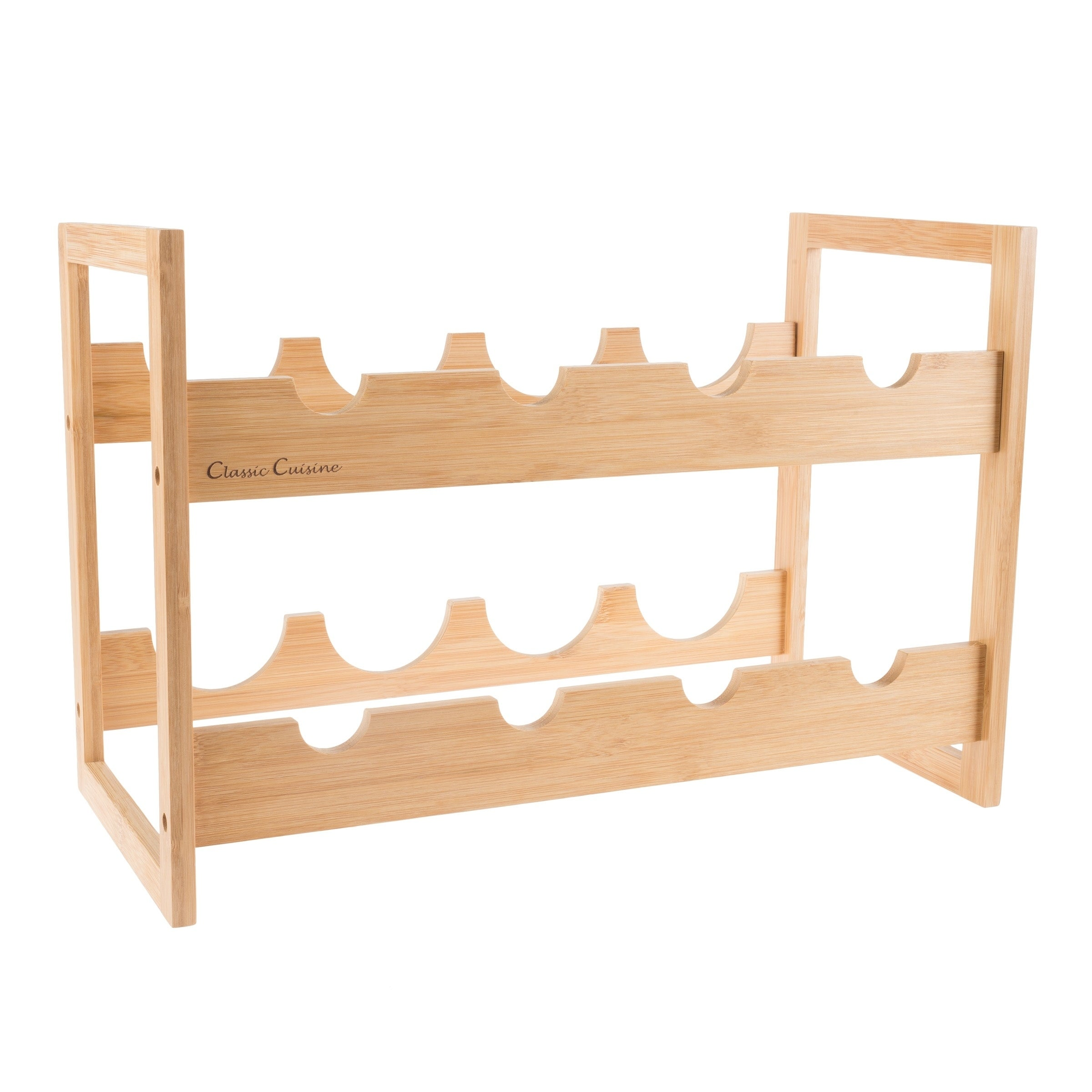 Shop Bamboo Wine Rack 8 Bottle Tabletop By Classic Cuisine   On Sale   Free  Shipping On Orders Over $45   Overstock.com   21485356