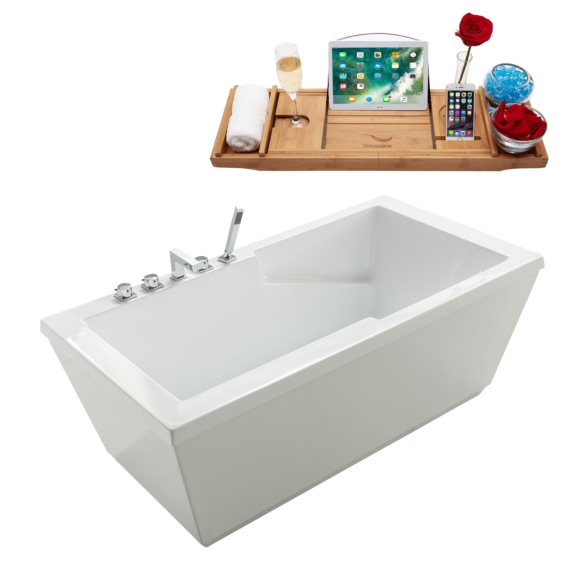 Best Freestanding Tubs 2020 Shop Tub, Faucet and Tray Set Streamline 66