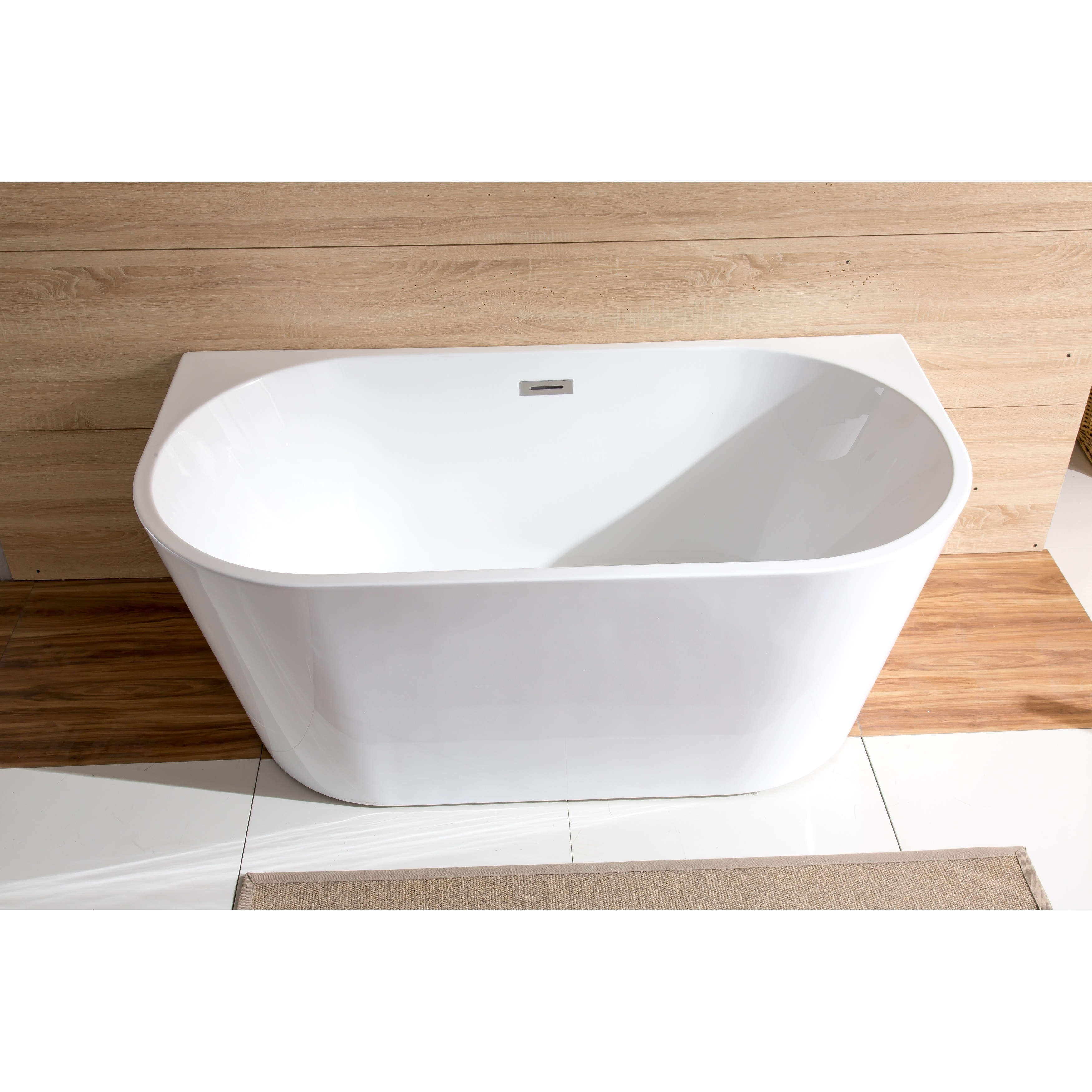 59 Streamline M 2420 59Fswh Fm Soaking Freestanding Tub With Internal Drain