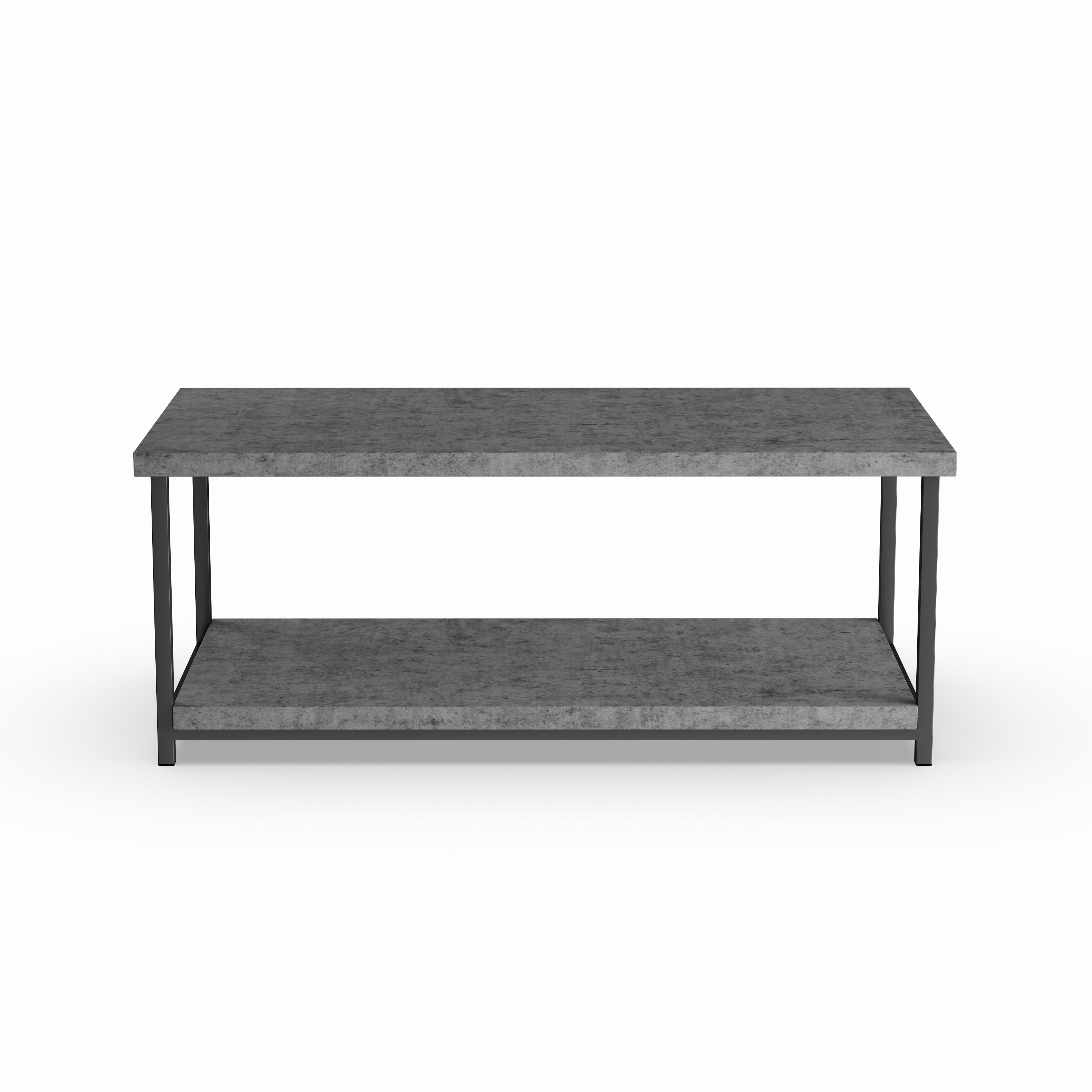 Shop Carbon Loft Shikibu Faux Slate Coffee Table With Storage Shelf