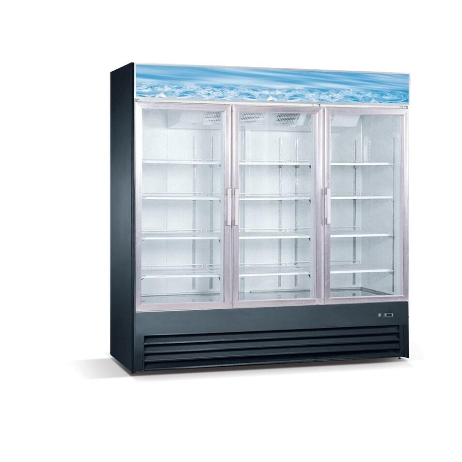 Shop Eq Kitchen Line Sd19l3 3 Glass Door Reach In Freezer 391 Gal