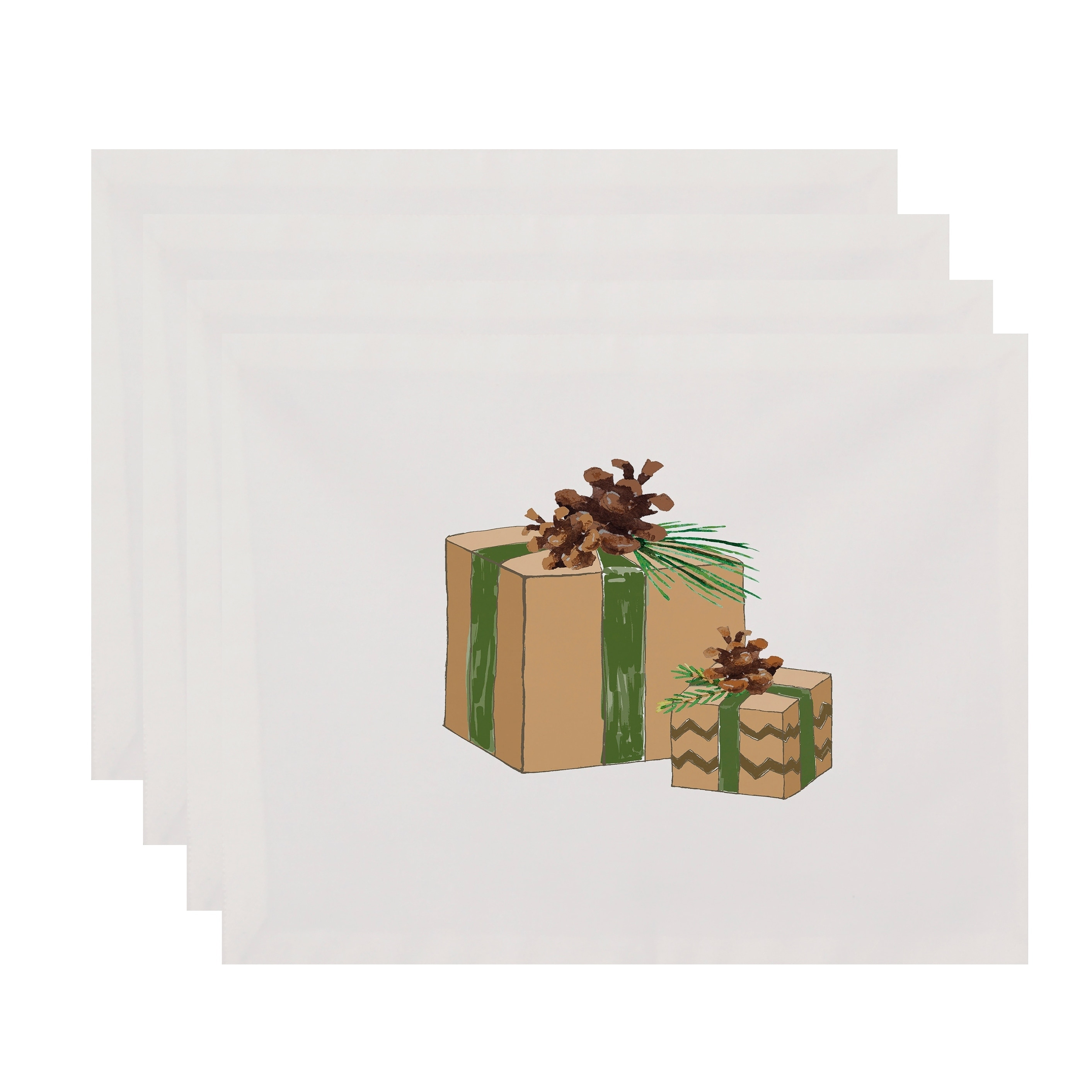 f794cde01052 Shop Nature s Gift 18 x 14 Inch Holiday Print Placemat (Set of 4 ...