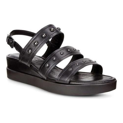 ECCO Touch Plateau Ankle Strap Sandal(Women's) -Black/Black Cow Full Grain Leather Order Free Shipping Low Price Extremely Enjoy Online Nicekicks zEDRa6geA