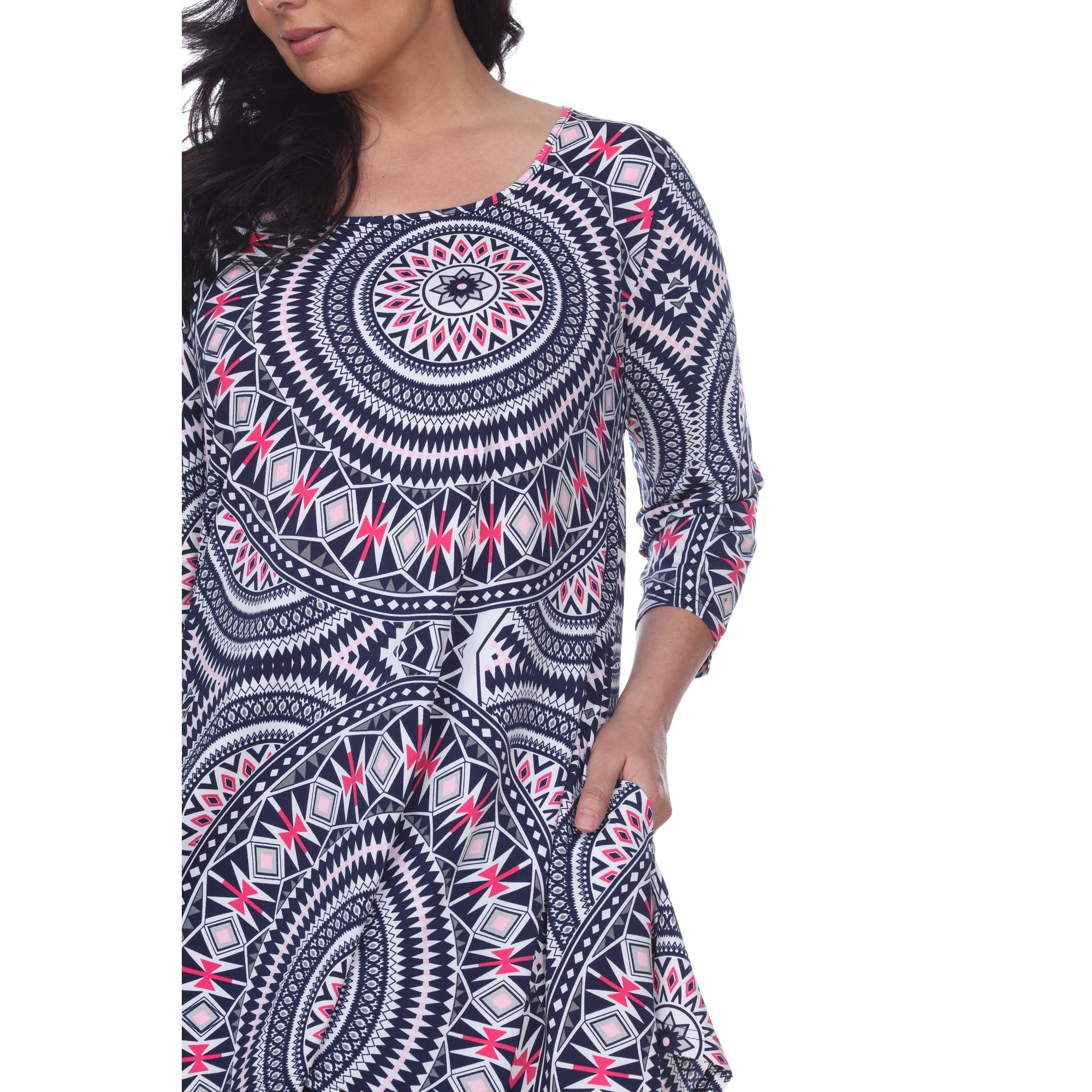 81f96826fe0 Shop White Mark Women's Plus Size 'Maji' Tunic - Free Shipping On Orders  Over $45 - Overstock - 21502473