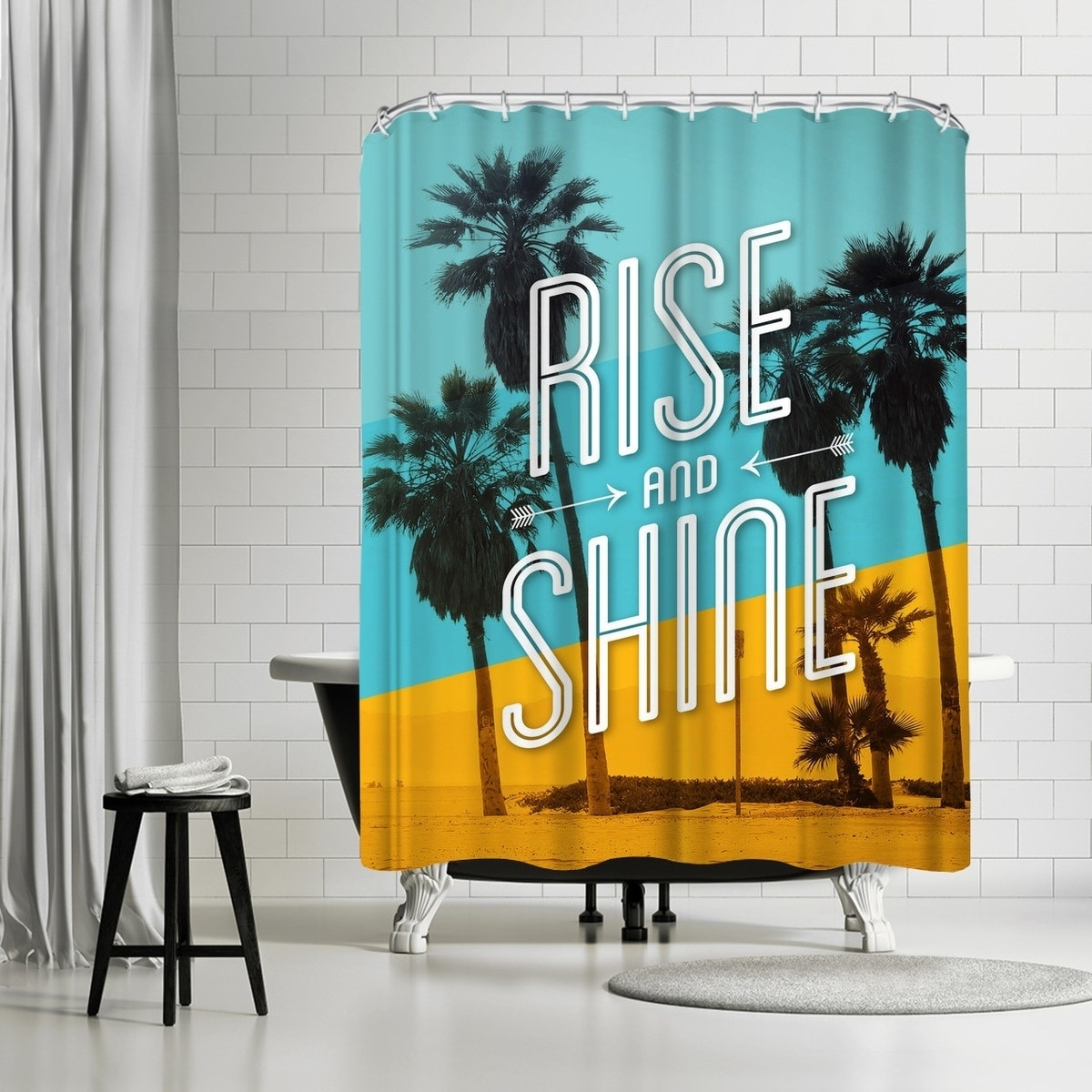 Americanflat \'Rise And Shine Beach\' Shower Curtain - Free Shipping ...