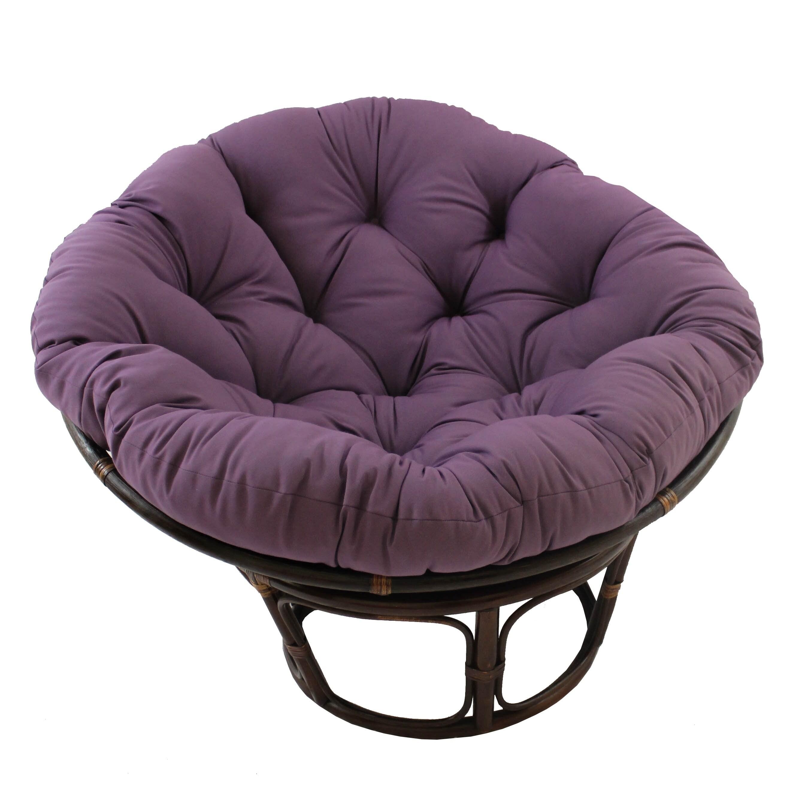 International Caravan Bali Papasan Chair With Solid Cushion  Free
