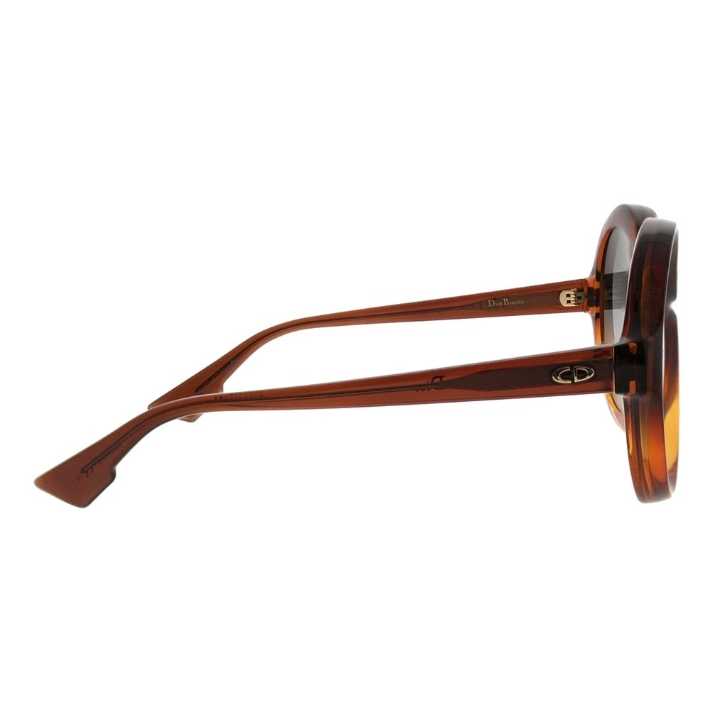 917562809f Shop Dior Round Bianca 12J Women Brown Orange Frame Grey Gradient Lens  Sunglasses - On Sale - Free Shipping Today - Overstock.com - 21518844