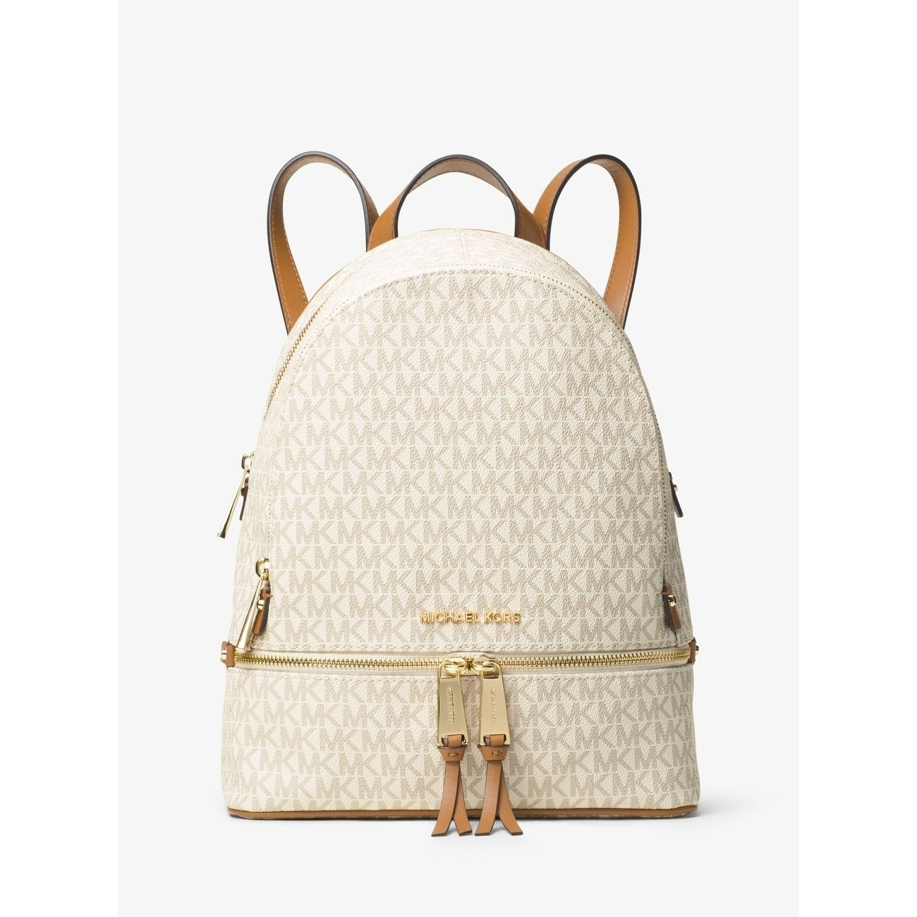 13e89f5f3a725f ... inexpensive shop michael michael kors signature rhea zip medium backpack  free shipping today overstock 21533642 e9b8a