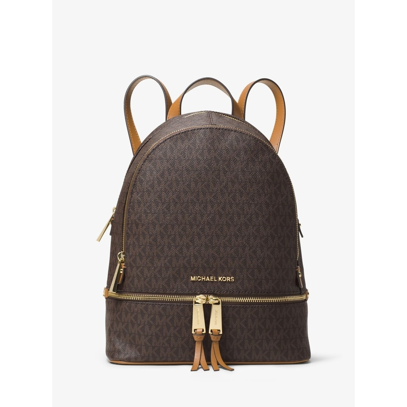 a7fc827876 Shop MICHAEL Michael Kors Rhea Signature Medium Backpack Brown ...