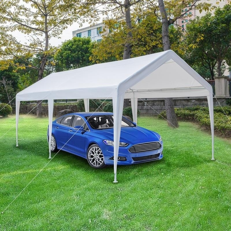 Shop 10x20 feet Carport Heavy Duty Car Canopy Tent Party Tent Multi Color - Ships To Canada - Overstock - 21557379 & Shop 10x20 feet Carport Heavy Duty Car Canopy Tent Party Tent Multi ...