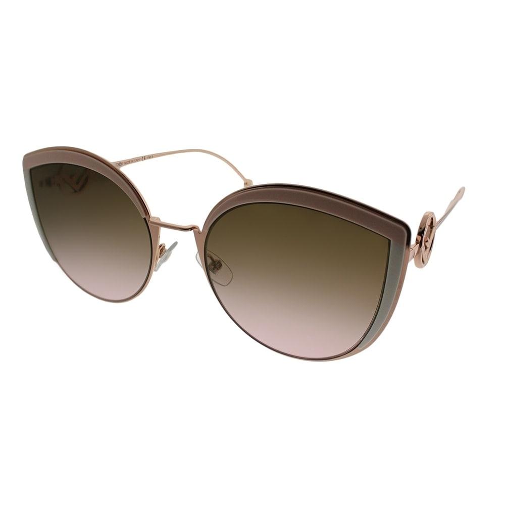 9e0bfc2fe242 Fendi Cat-eye FF 0290 F is Fendi 35J Women Pink Frame Brown Gradient Lens  Sunglasses
