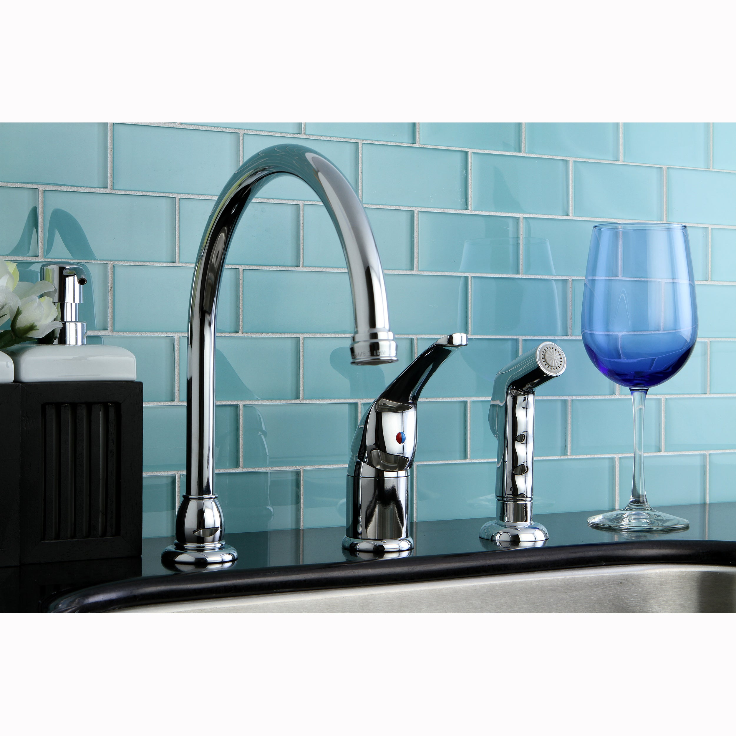 Chrome Kitchen Faucet - Free Shipping Today - Overstock - 10433418