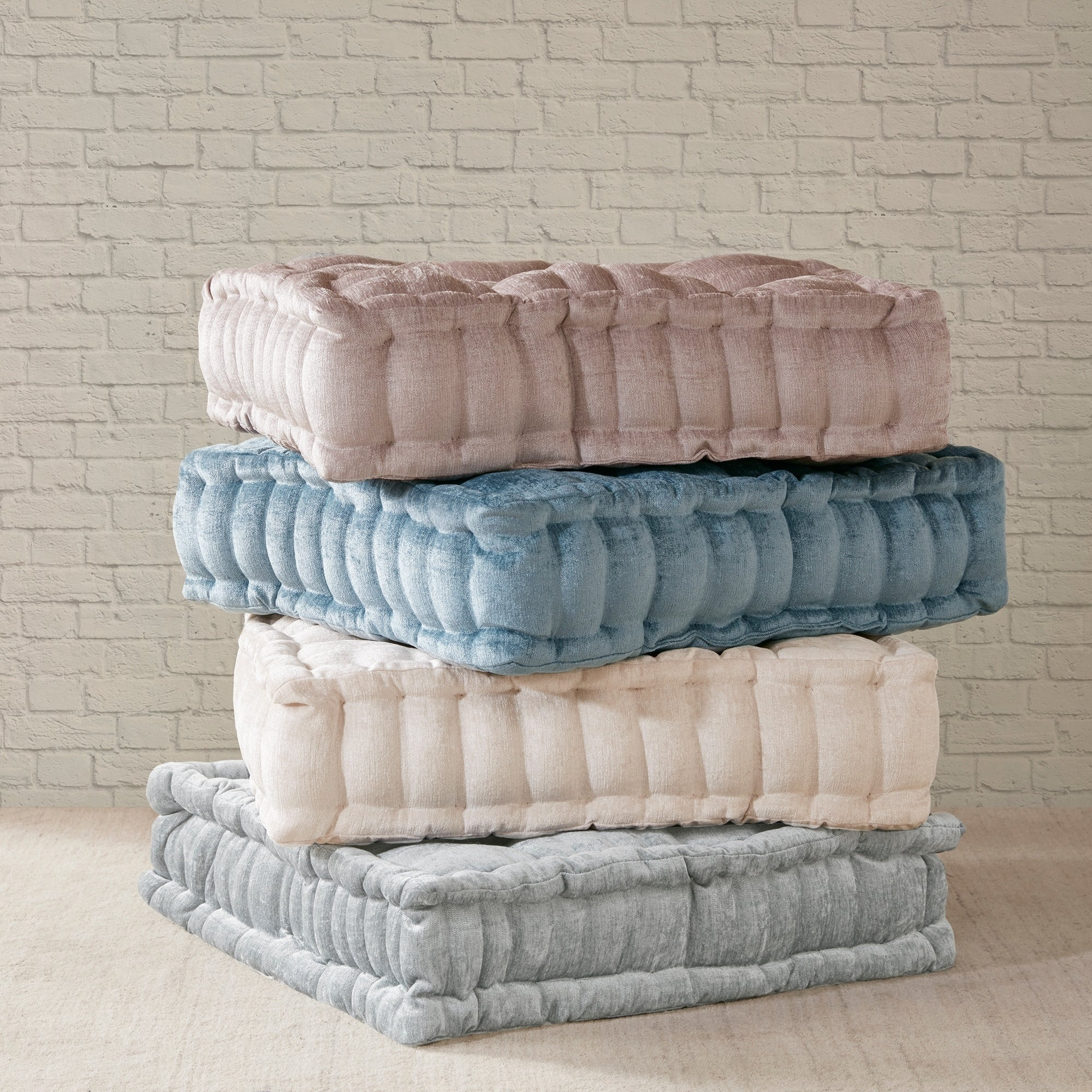 Intelligent Designs Charvi Poly Chenille Square Floor Pillow Cushion ...
