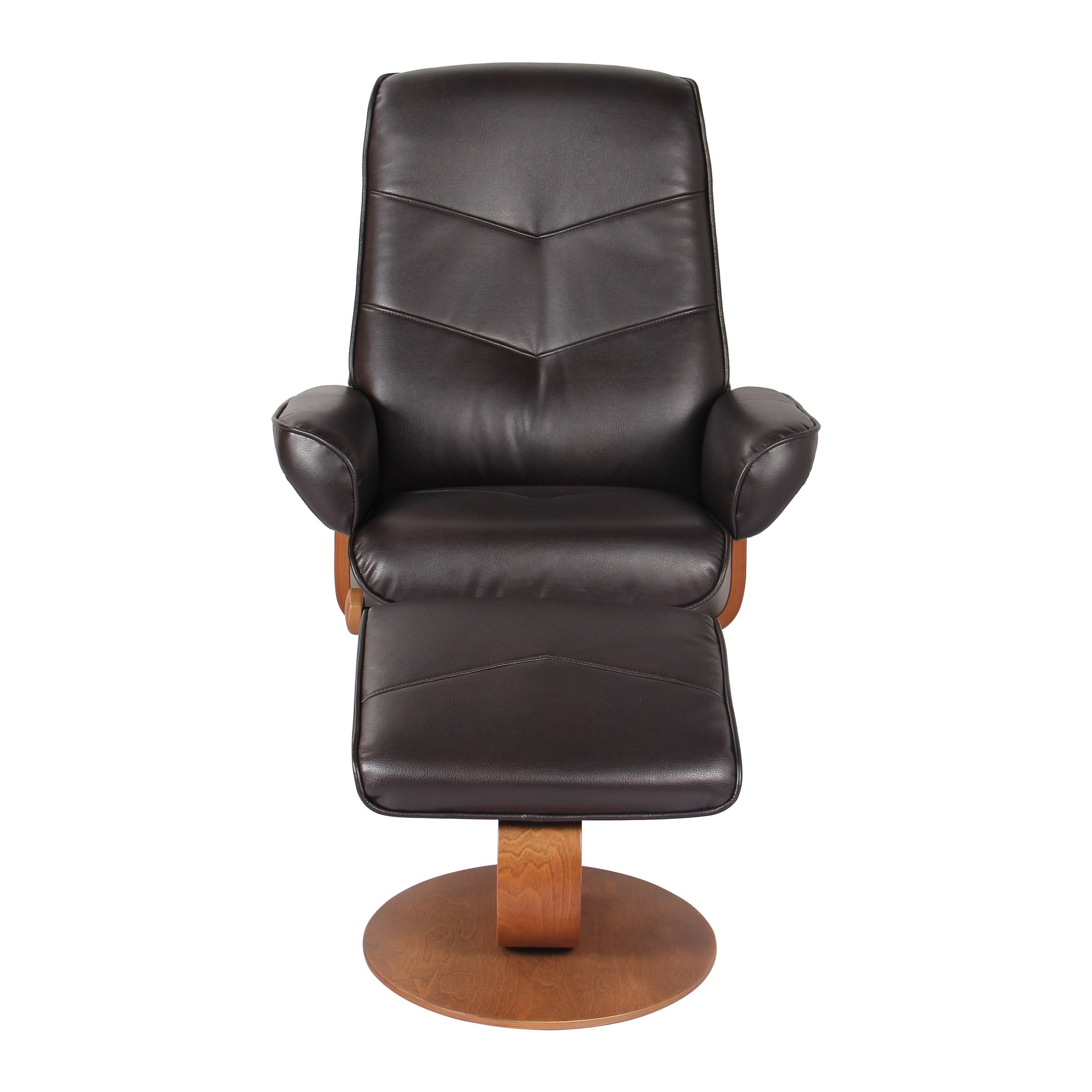 Shop NewRidge Home Swivel Recliner Chair U0026 Ottoman In Java, Verona   Free  Shipping Today   Overstock.com   21609667