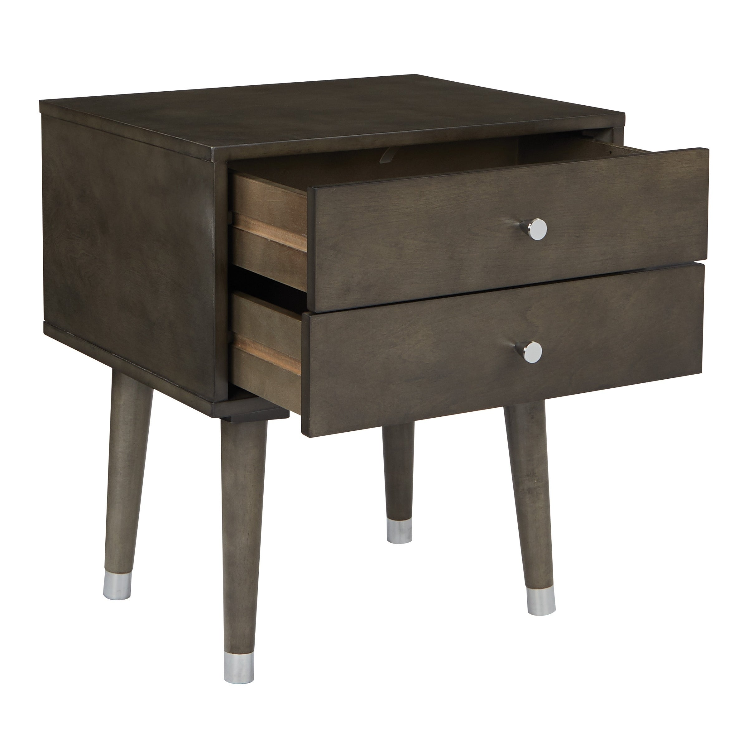 Osp Home Furnishings Cupertino Mid Century Side Table In Grey Free Shipping Today 21612979