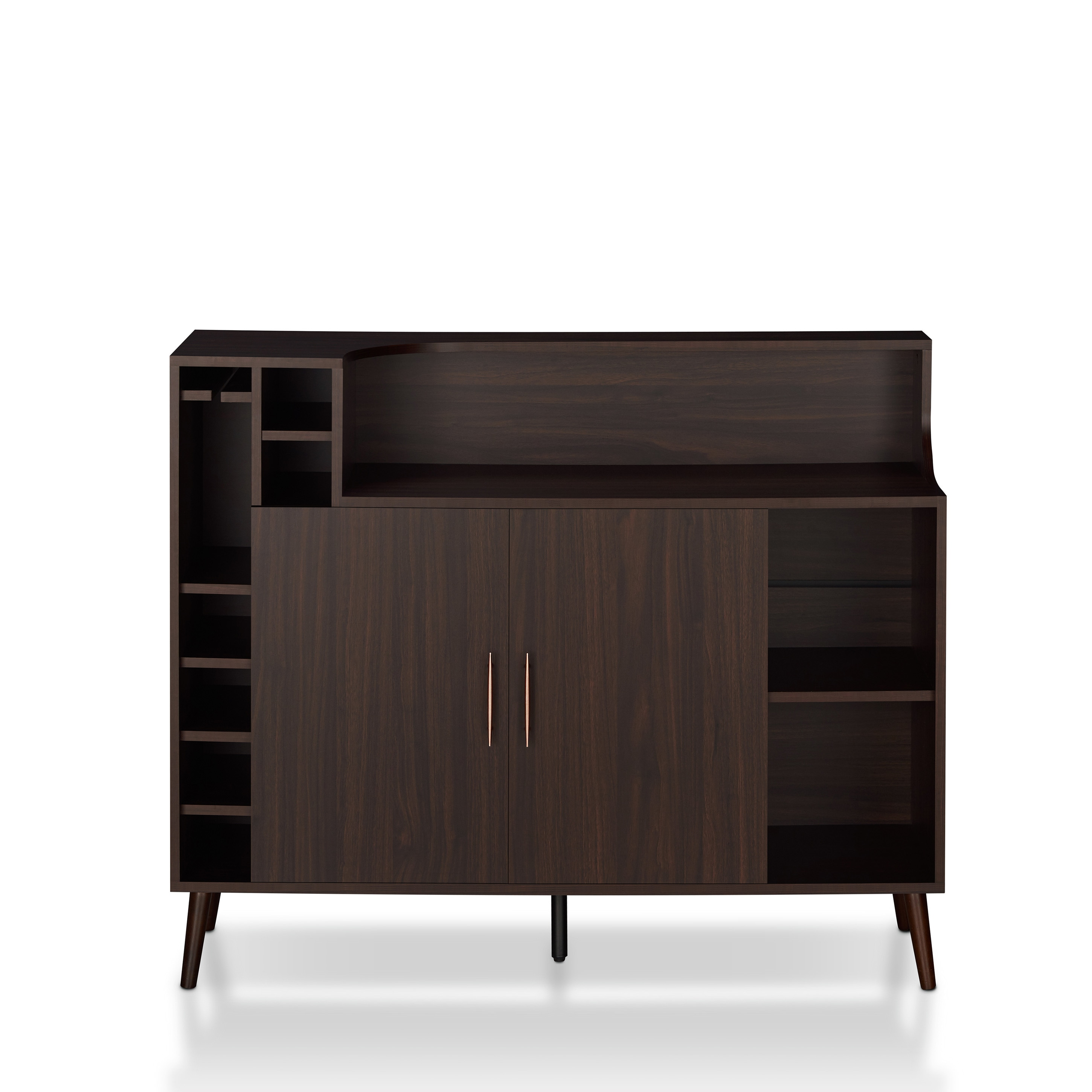Lovely Furniture Of America Norlina Contemporary Wine Rack Buffet   Free Shipping  Today   Overstock   27336883