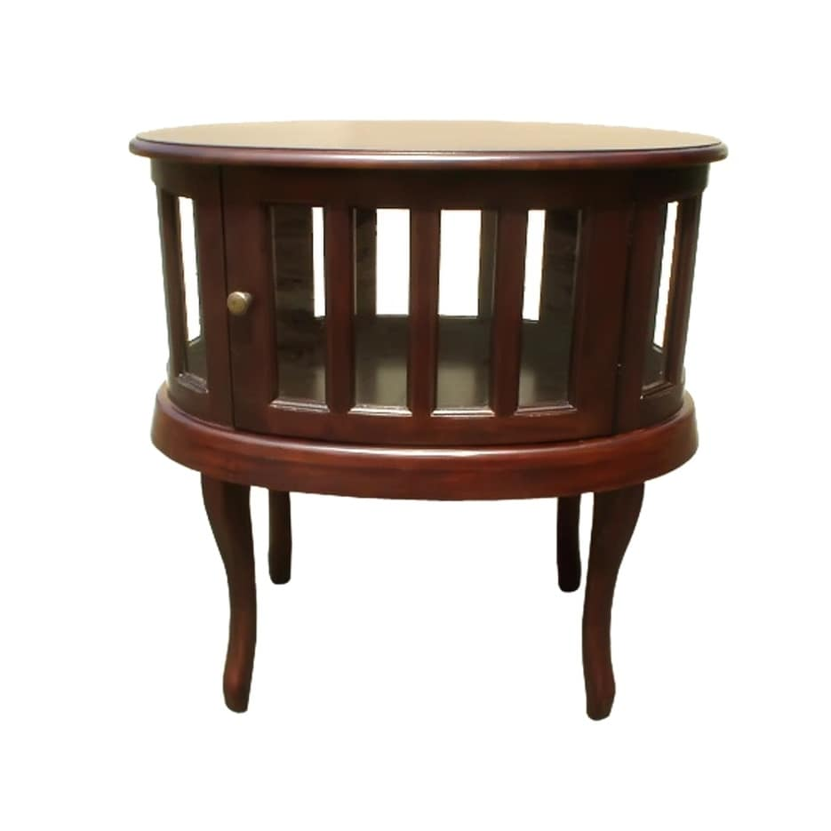 Offex handcrafted solid kiln dried mahogany wood oval tea table free shipping today overstock 27340368