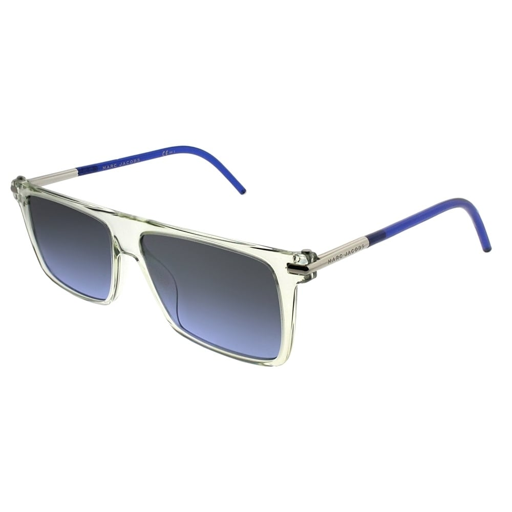 ce50ad5ff254 Shop Marc Jacobs Rectangle MARC 46/S TMD Unisex Crystal Frame Blue Mirror  Lens Sunglasses - Ships To Canada - Overstock - 21620955