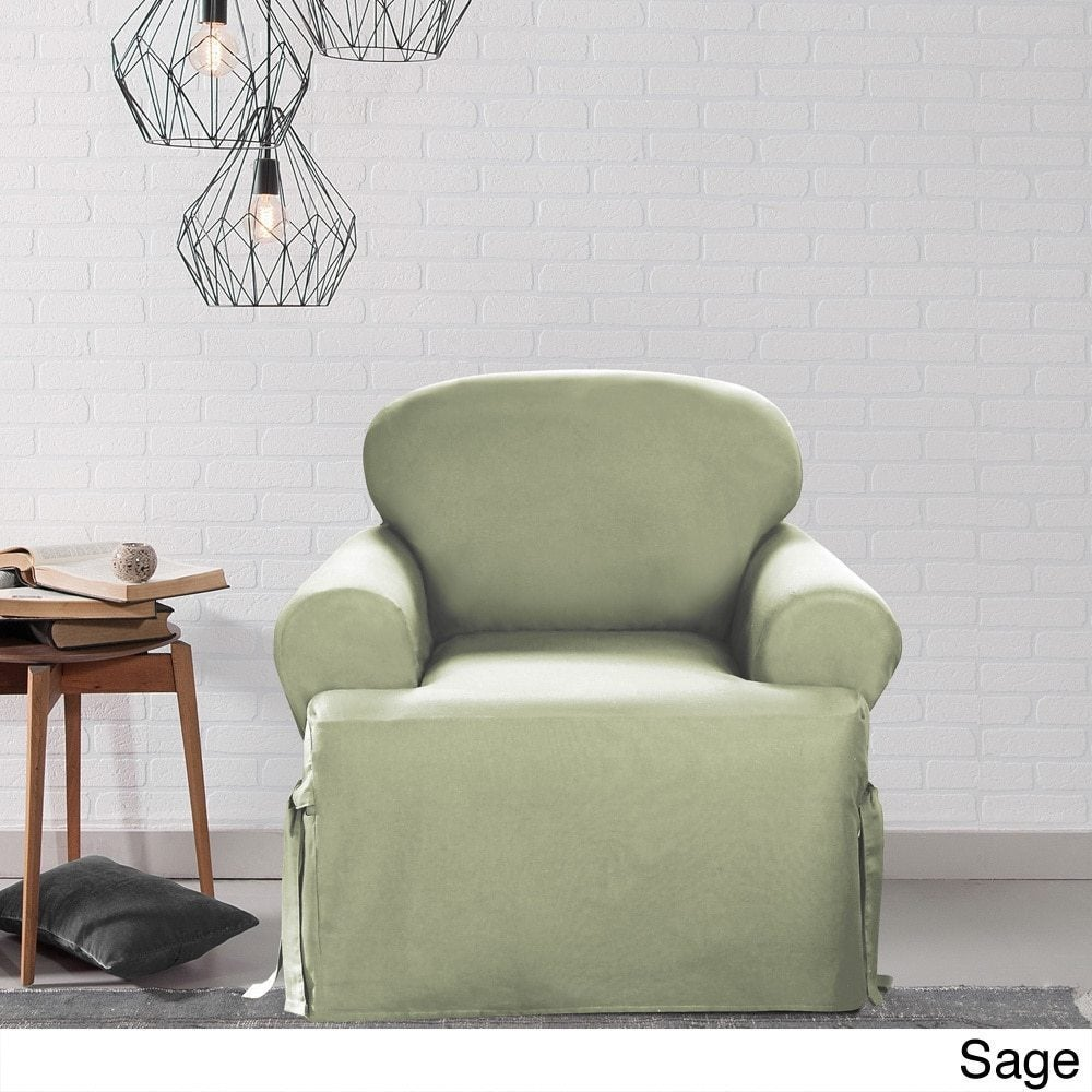 Shop sure fit cotton classic t cushion chair slipcover on sale free shipping today overstock com 2162301