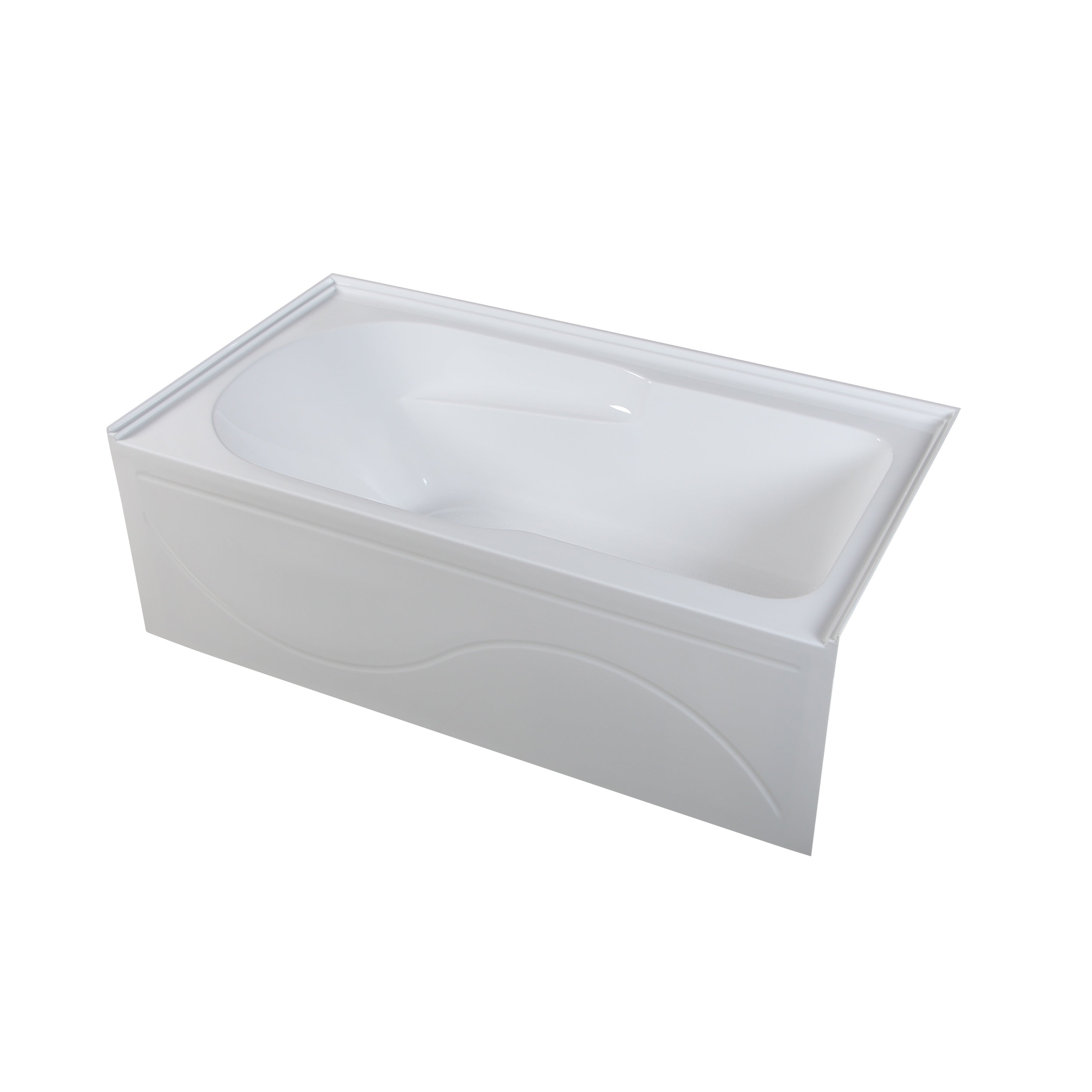 Shop Swiss Madison 60 x 30 Alcove Soaking Tub with Right Hand Apron ...