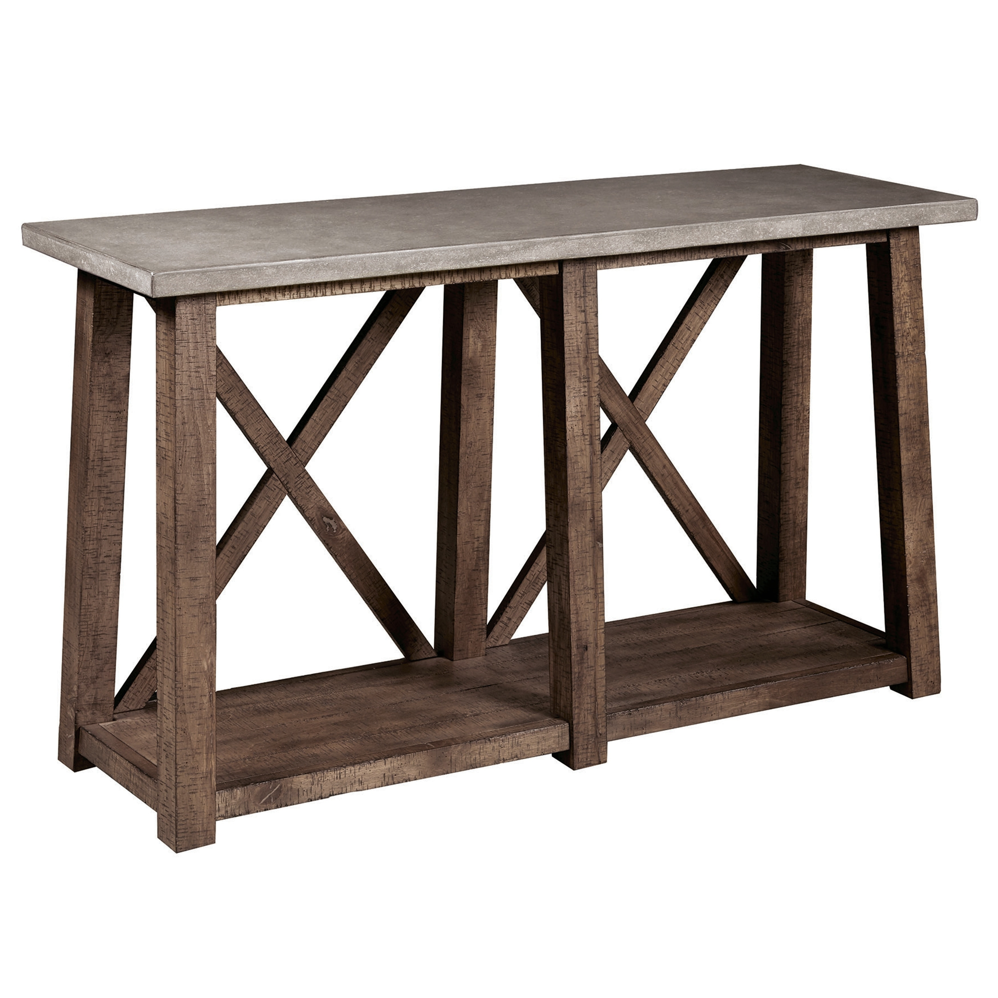 Farmhouse Style Distressed Sofa Table Free Shipping Today 21634042