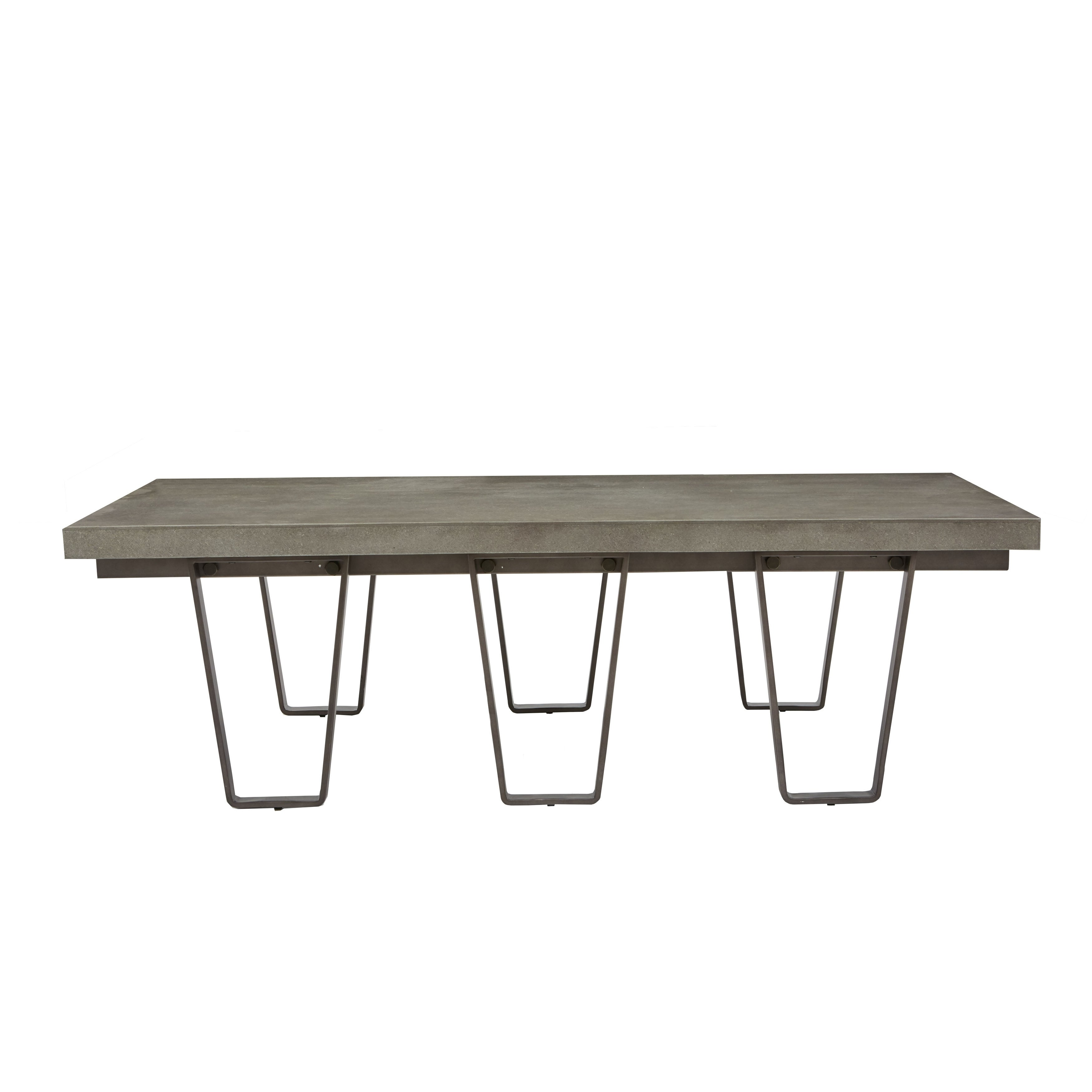Shop Concrete Top Coffee Table Free Shipping Today Overstock