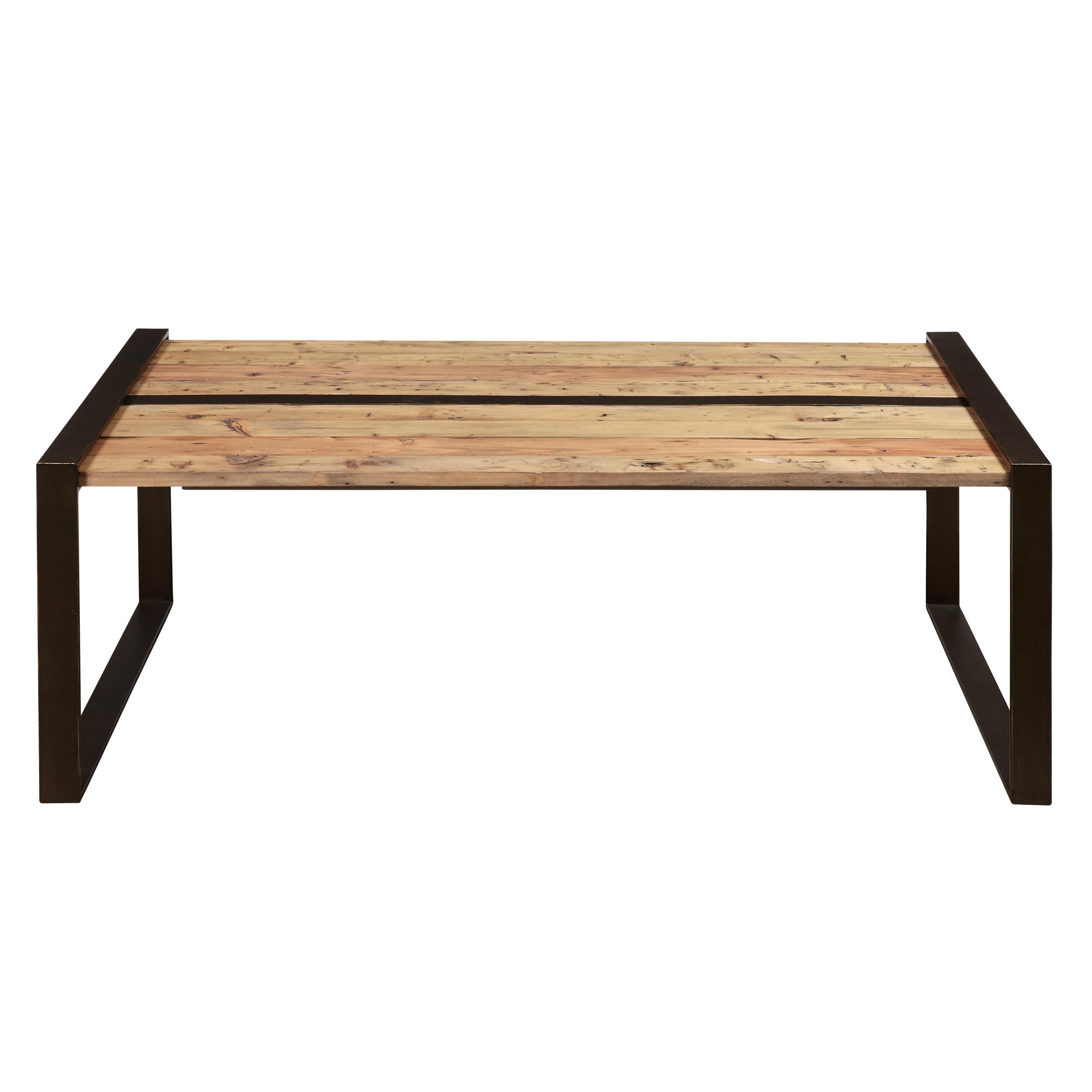 Reclaimed Wood Metal Coffee Table.Reclaimed Wood Metal Cocktail Table