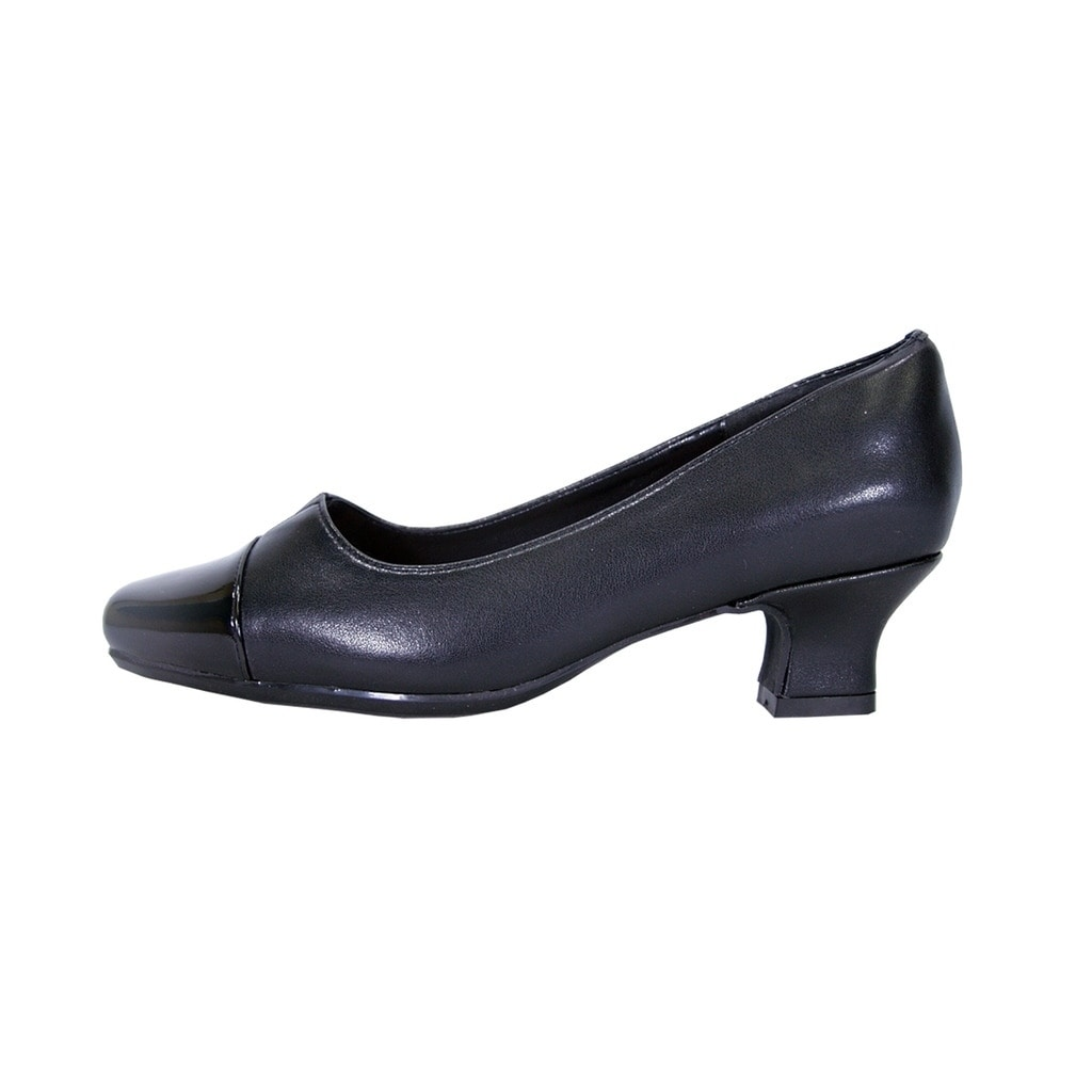 22e47abfbad Shop PEERAGE Leela Women Extra Wide Width Leather Comfort Heel Pump Shoes -  Free Shipping Today - Overstock - 21650746