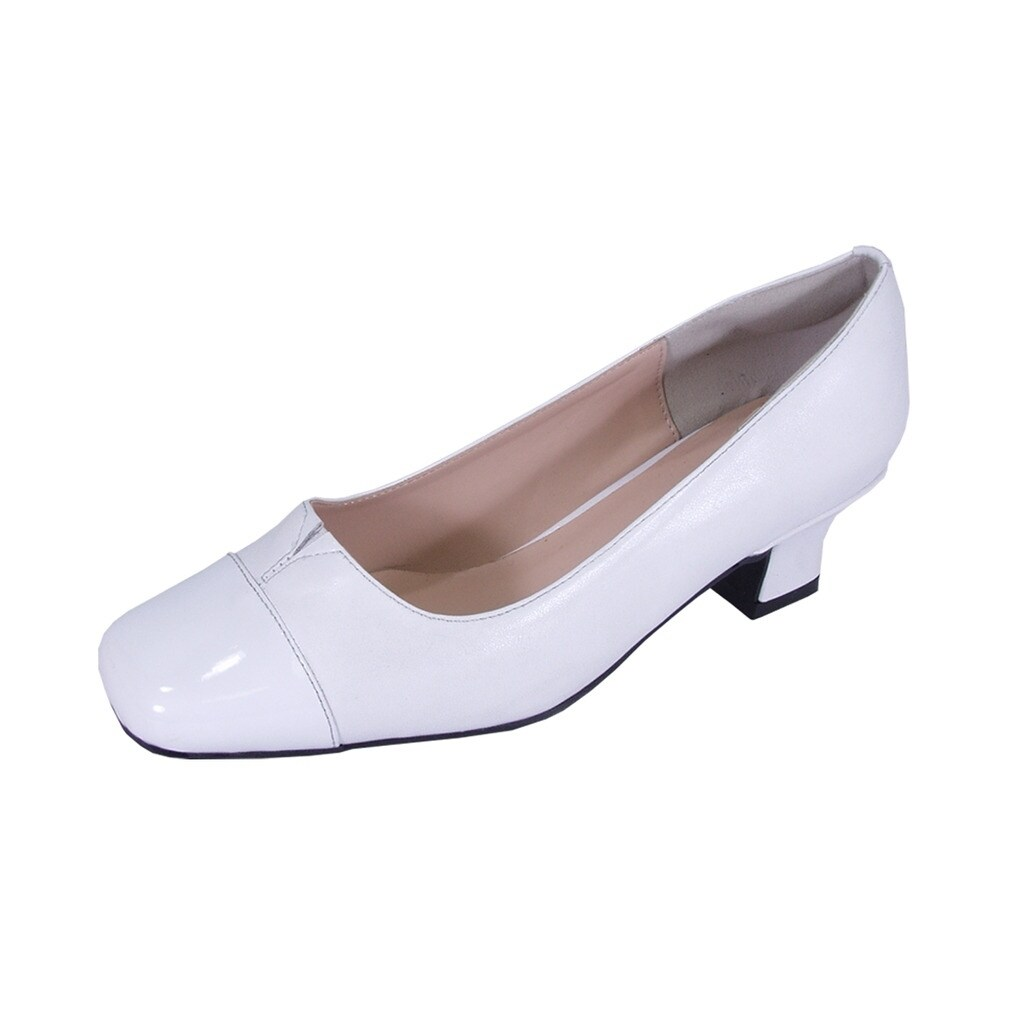 d0831e0a04e5d2 Shop PEERAGE Leela Women Extra Wide Width Leather Comfort Heel Pump Shoes -  Free Shipping Today - Overstock - 21650746