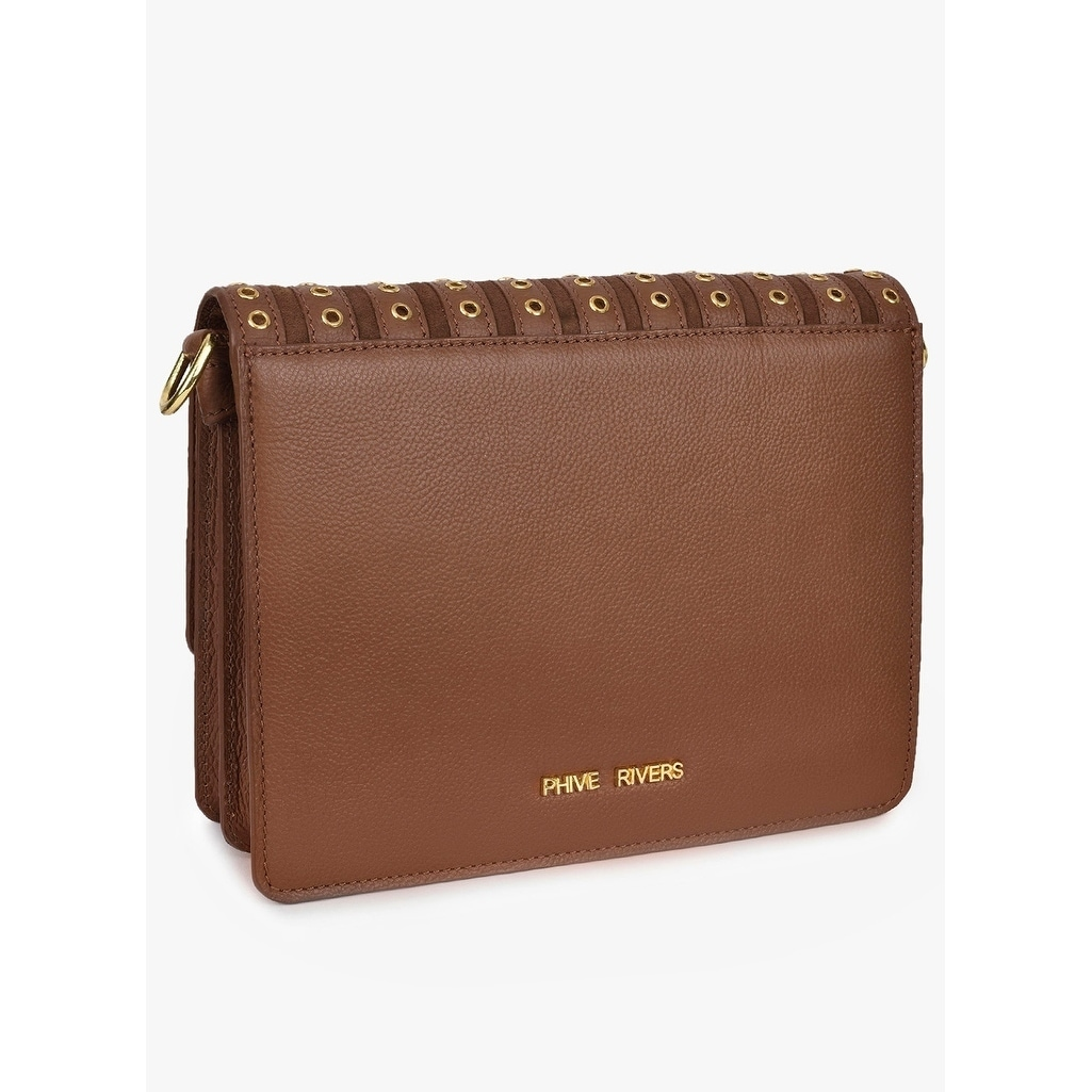 f289410d7498 Shop Handmade Phive Rivers Women s Leather Tan Crossbody Bag (Italy) - M -  On Sale - Free Shipping Today - Overstock.com - 21655959