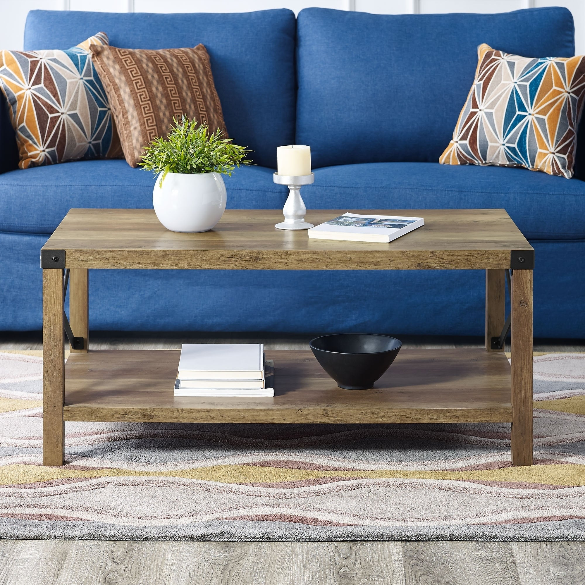 40 Metal X Coffee Table 22 18h On Free Shipping Today 21665712