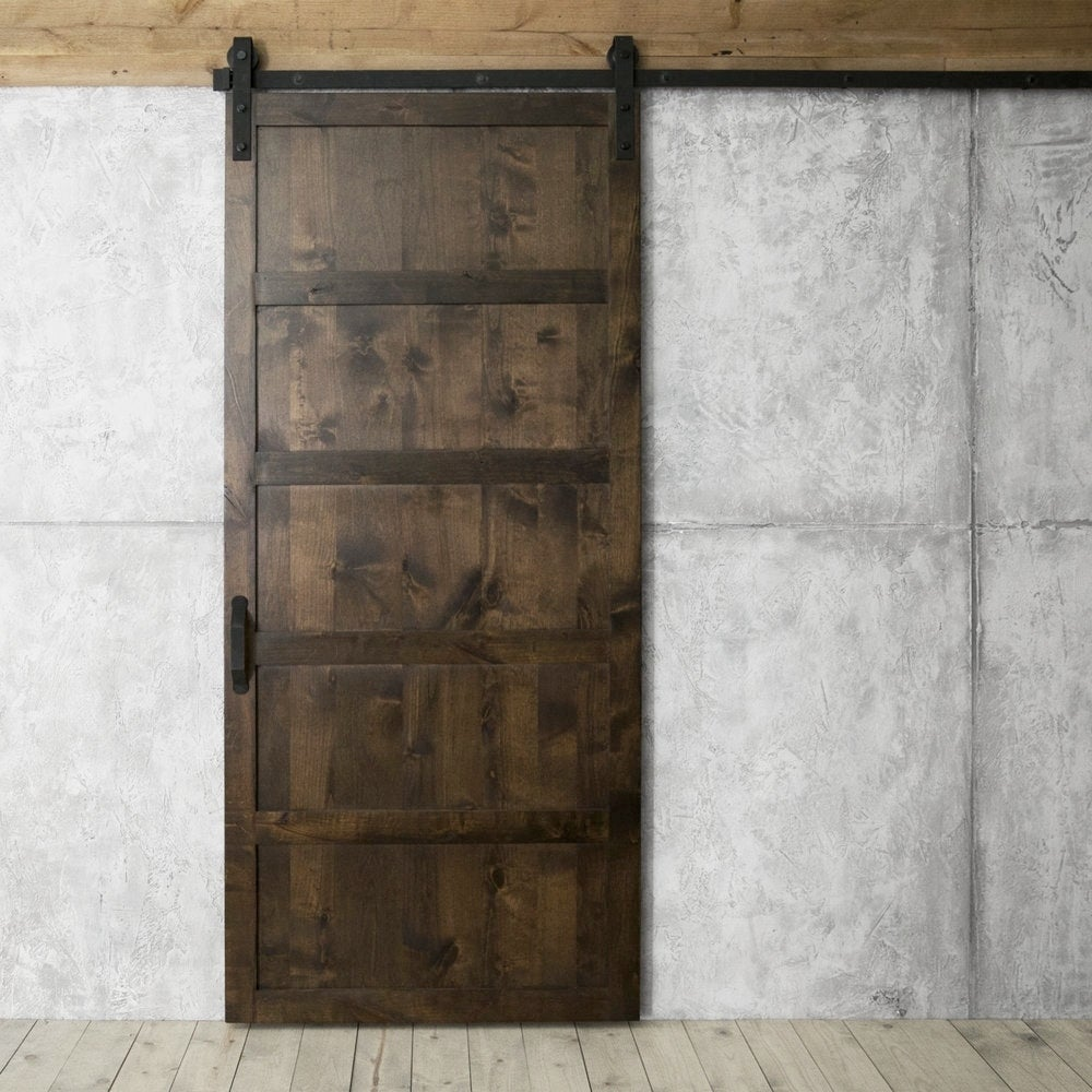 5 Panel Sliding Barn Door With Hardware 36 X 84 Free Shipping Today 21678275