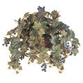 All Season Silk Grape Leaf Hanging Basket Plant