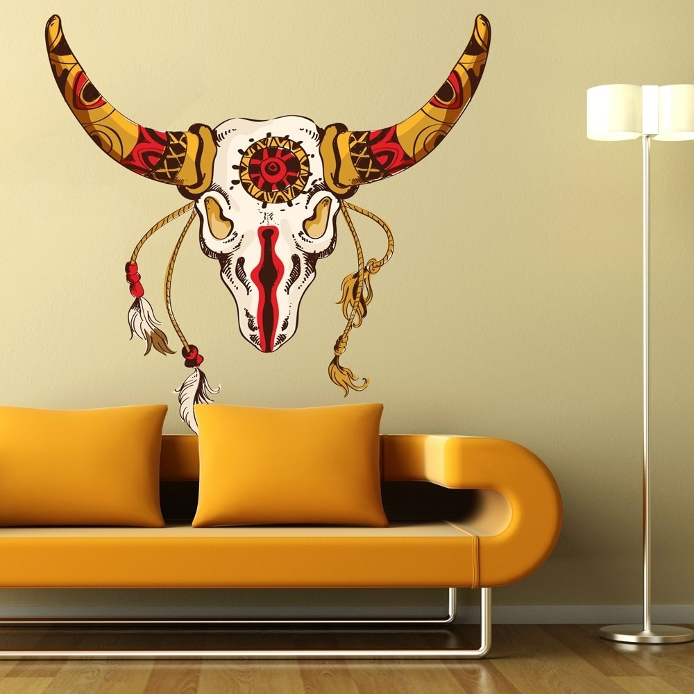 Attractive Bull Horn Wall Decor Pattern - Wall Art Collections ...