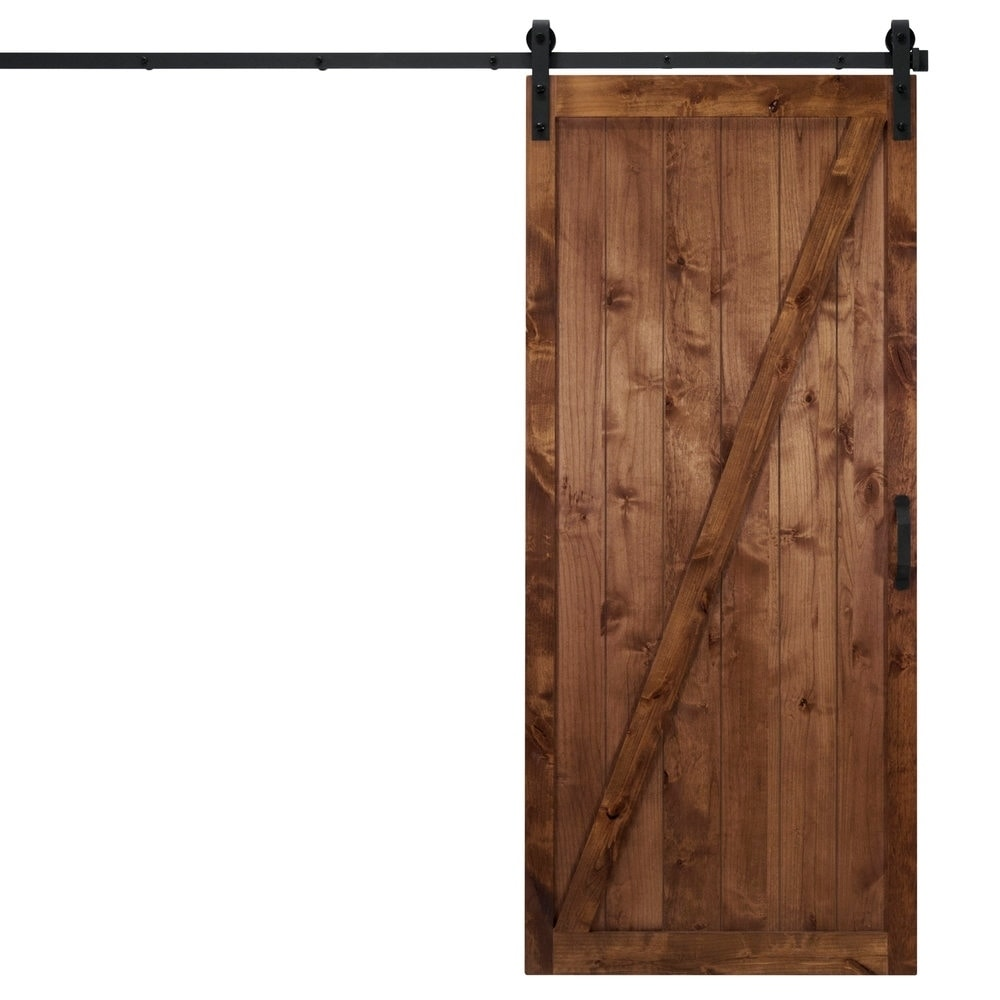 Classic Z Sliding Barn Door With Hardware (36\  x 84\ ) - Free Shipping Today - Overstock - 27406801  sc 1 st  Overstock & Classic Z Sliding Barn Door With Hardware (36\