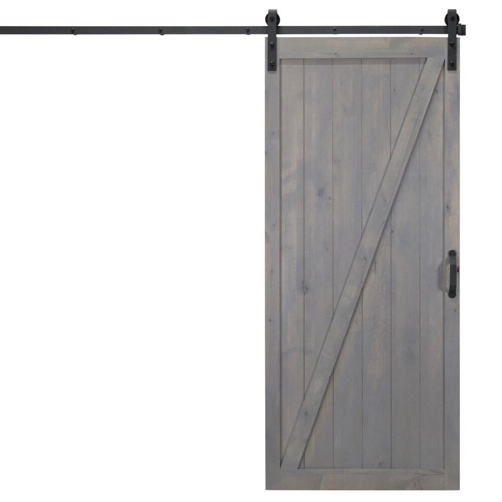 Shop Classic Z Sliding Barn Door With Hardware 36 X 84 Free