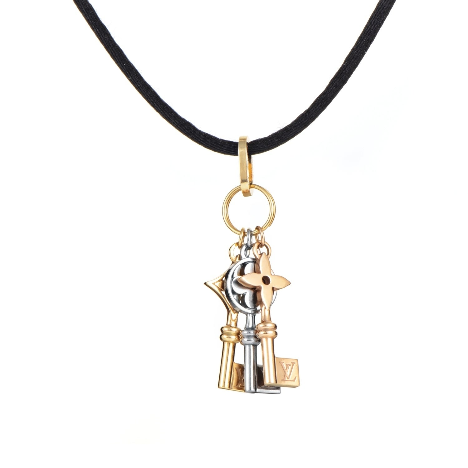 Louis vuitton idylle blossom womens multi tone gold keys pendant louis vuitton idylle blossom womens multi tone gold keys pendant necklace free shipping today overstock 27415337 mozeypictures Choice Image