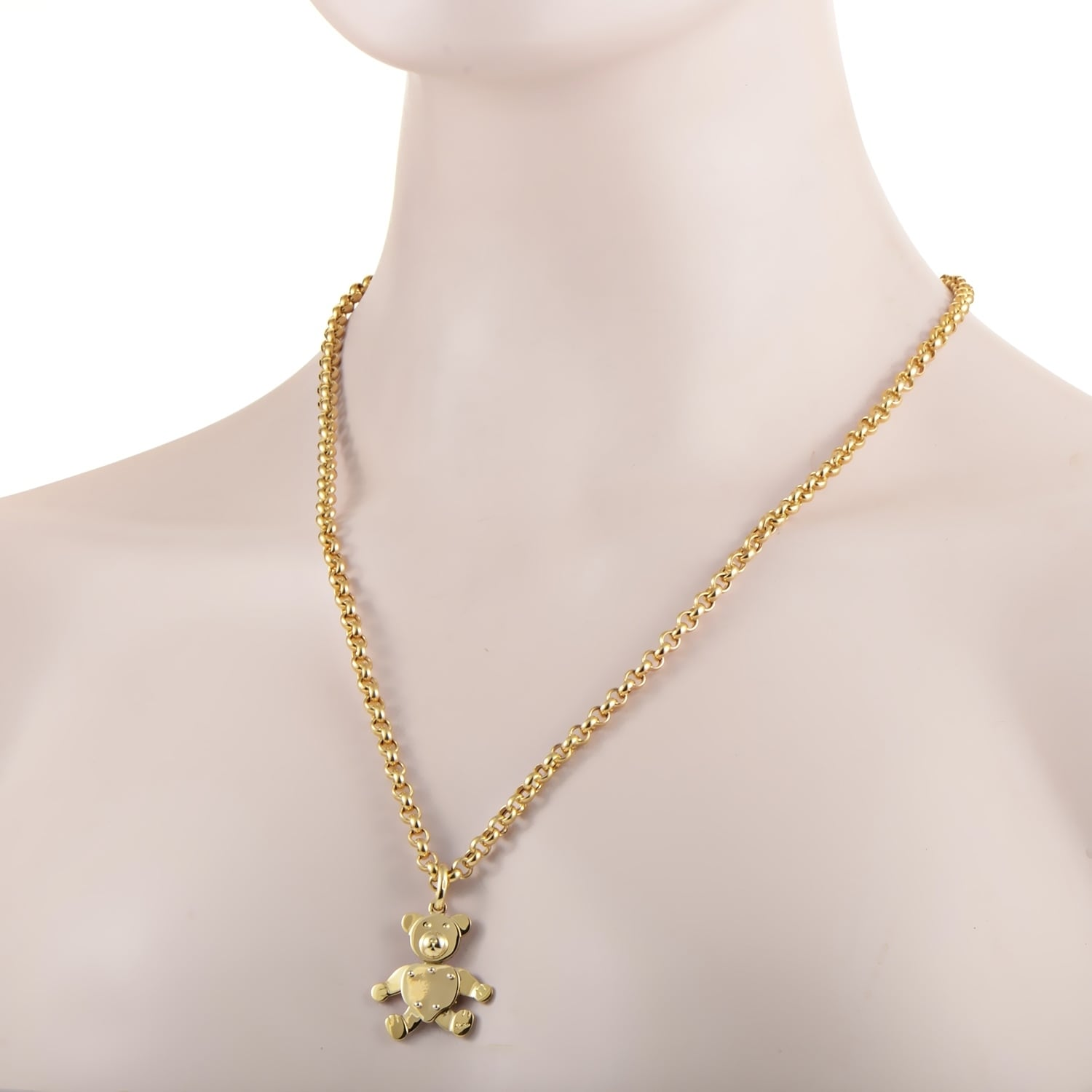 dfb1ccc9bc1999 Shop Pomellato Yellow Gold Teddy Bear Pendant Necklace - Free Shipping  Today - Overstock - 21705792