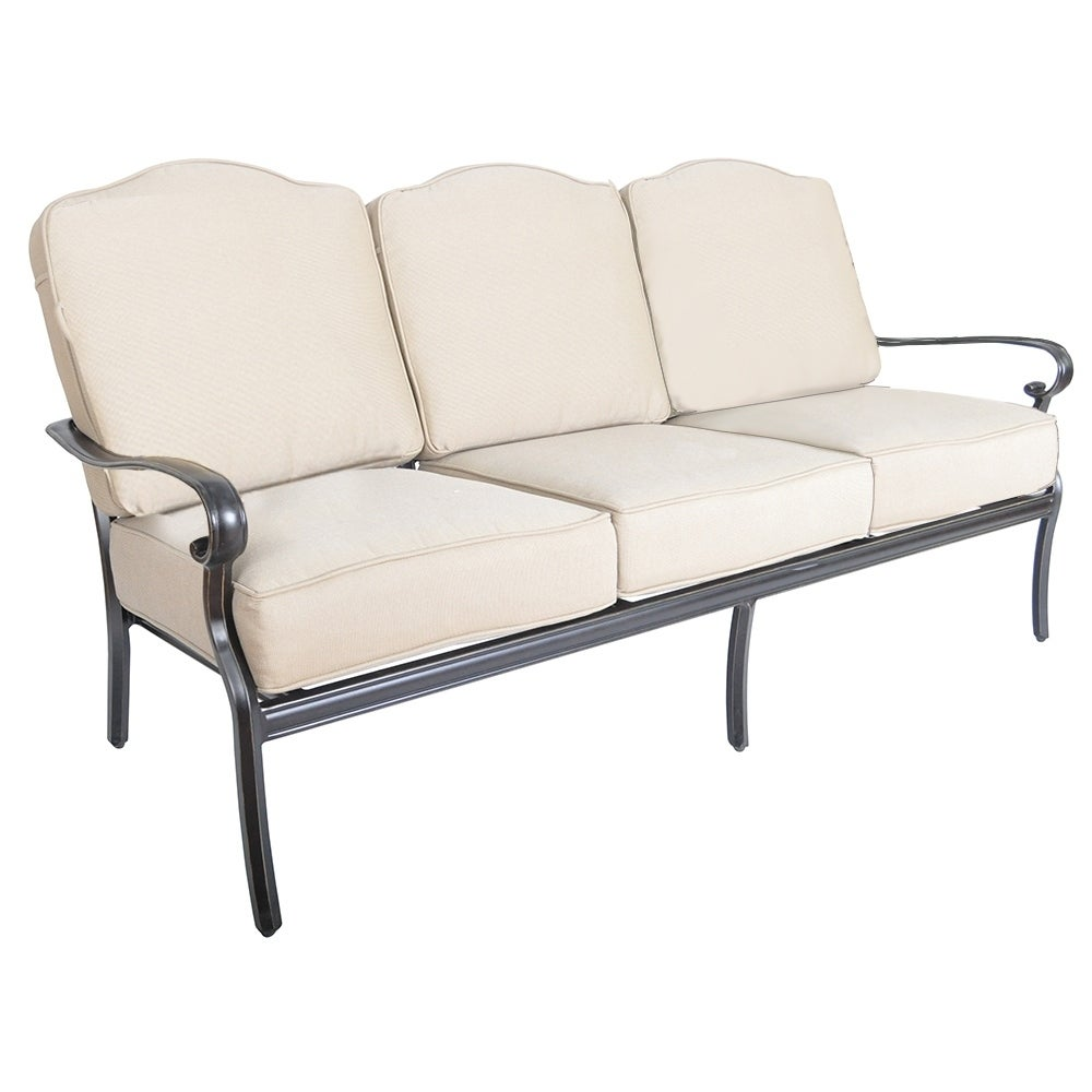 Shop Veranda Classics Harmony Brown Sunbrella Sofa   Free Shipping Today    Overstock.com   21706564