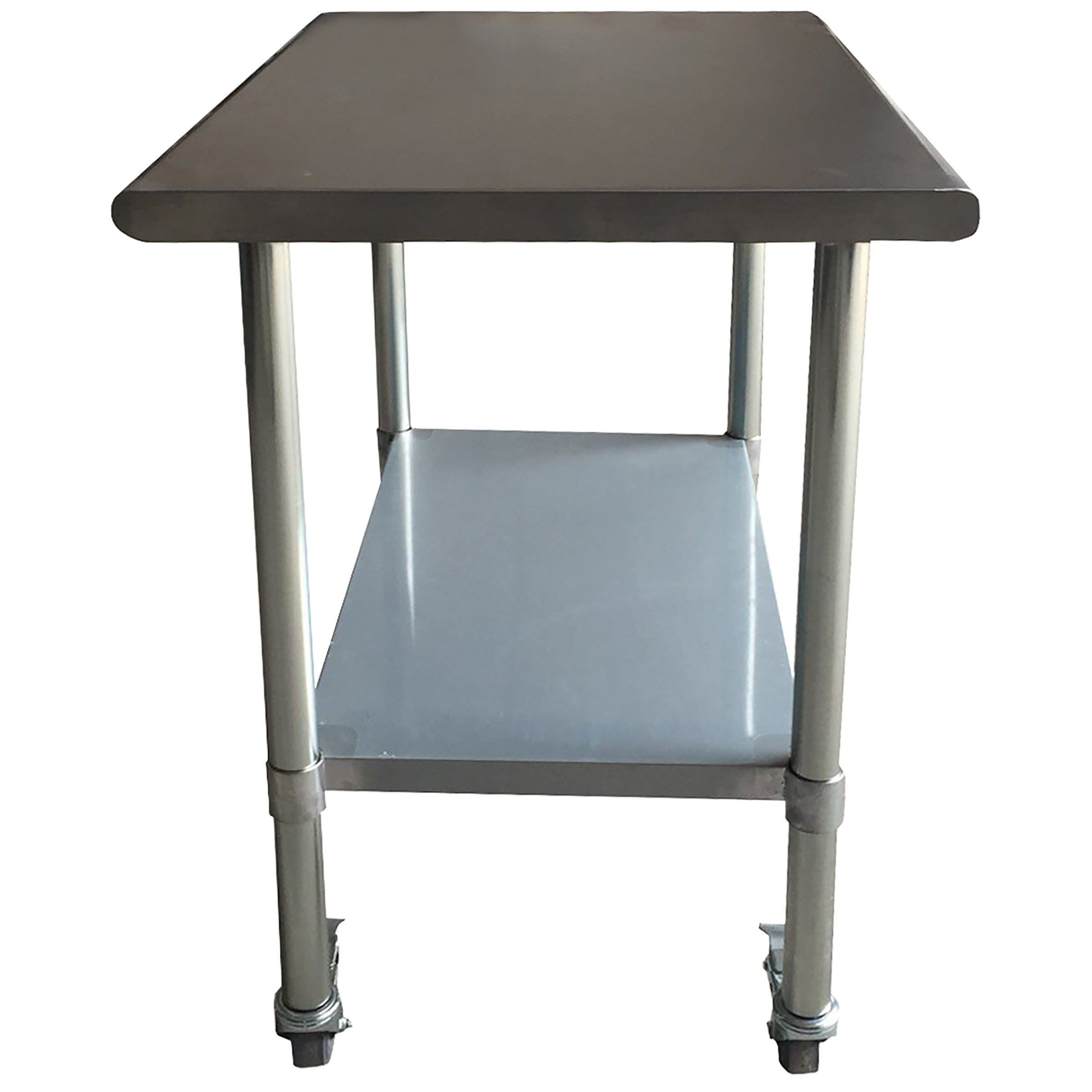 Sportsman Series Stainless Steel Work Table With Casters X - Stainless steel work table on casters