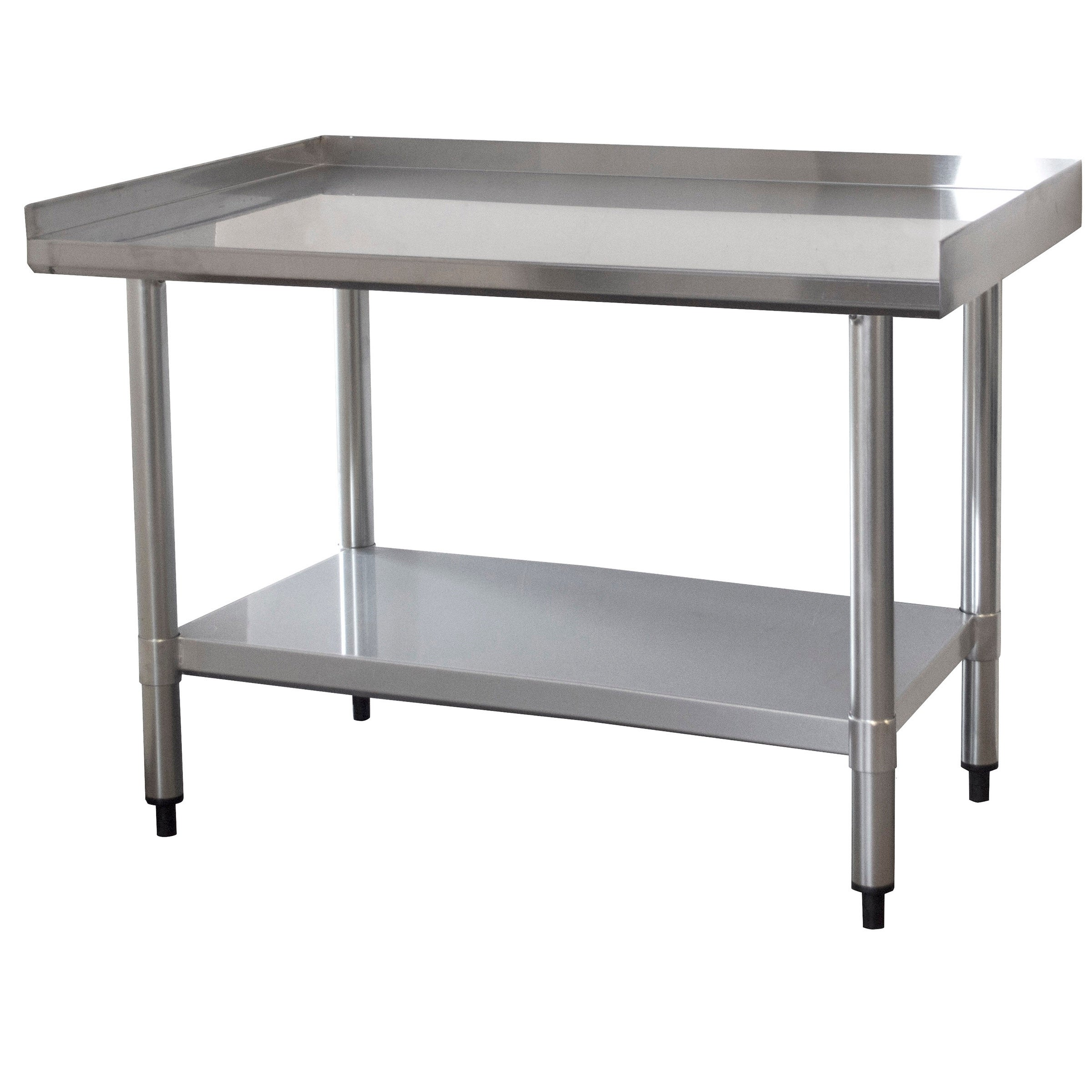 Shop Upturned Edge Stainless Steel Work Table 24 X 36 Inches   Free  Shipping Today   Overstock.com   21721451