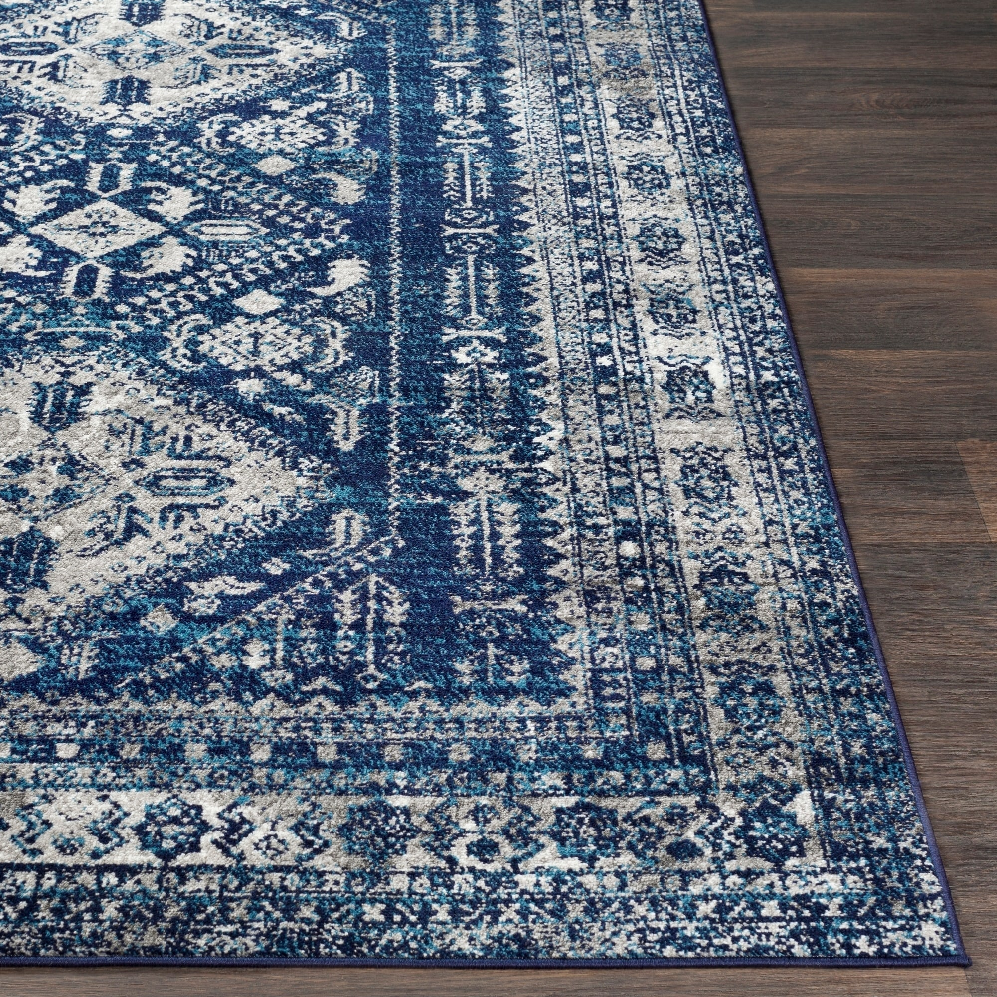 Shop Evry Navy Vintage Heriz Area Rug 710 X 103 On Sale D Island Casual Wrinkle Free Shipping Today 21722244