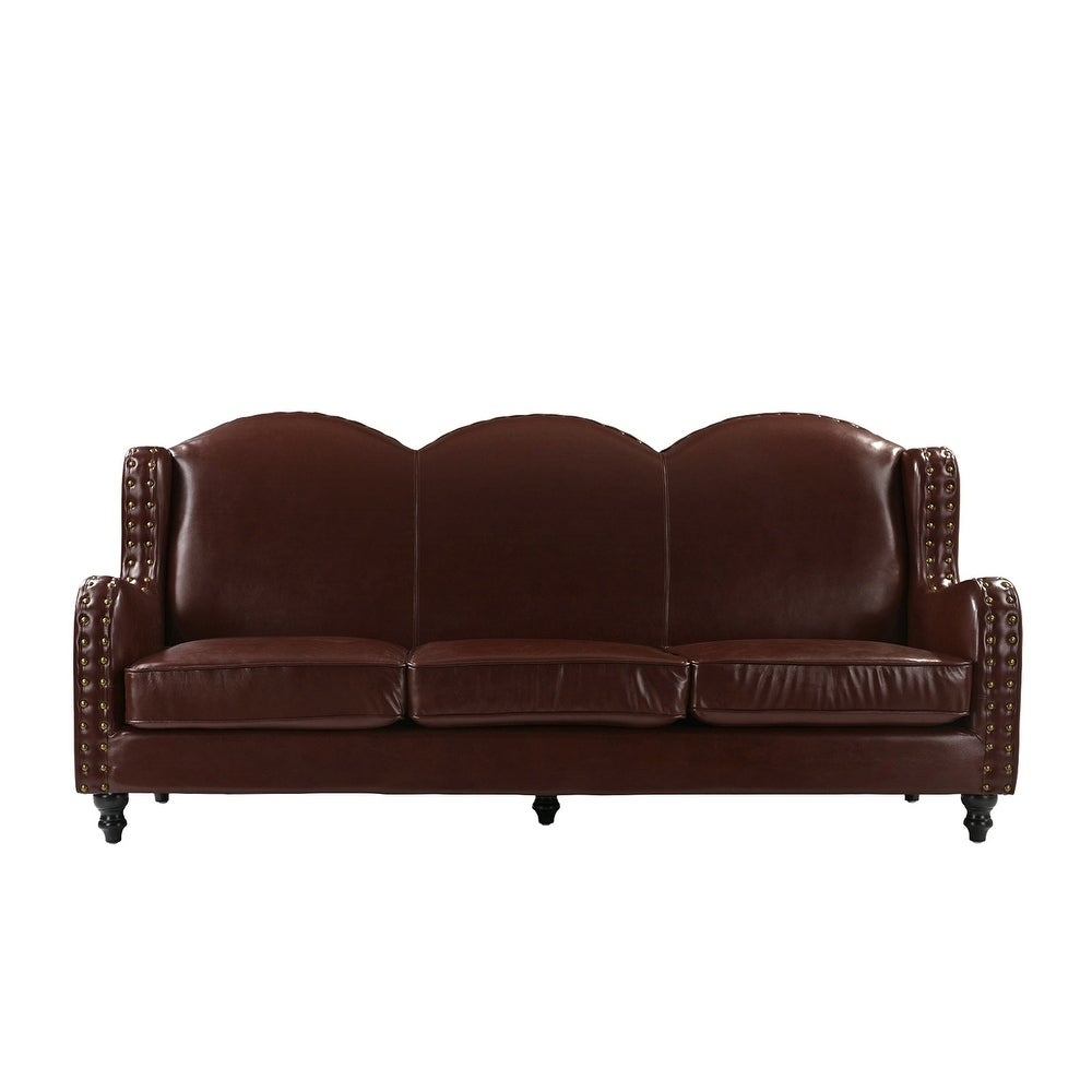 Traditional 3 Seater Leather Sofa Free Shipping Today 21723595