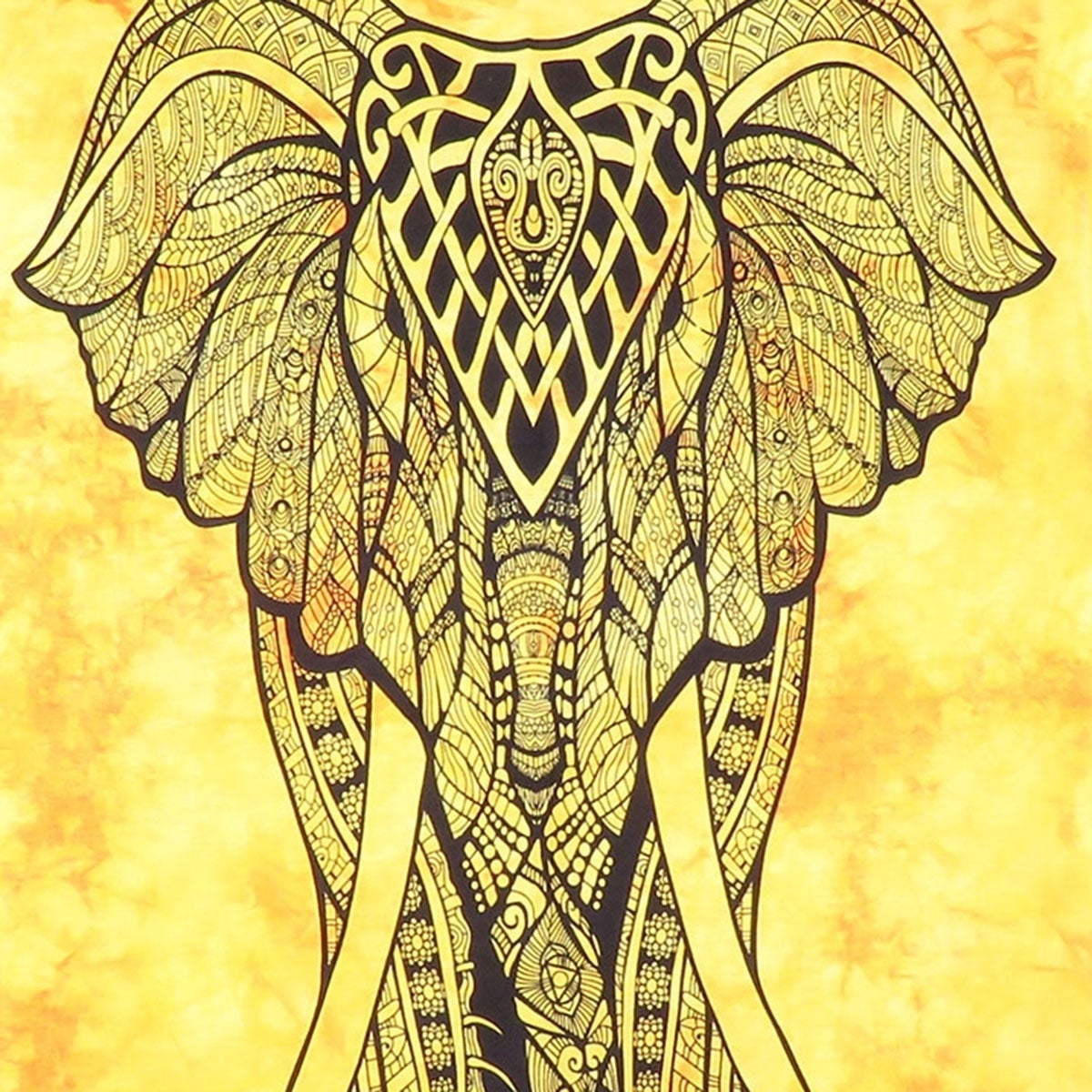 Shop Boho Elephant Mandala Multi-Color Cotton Wall Hanging Poster ...